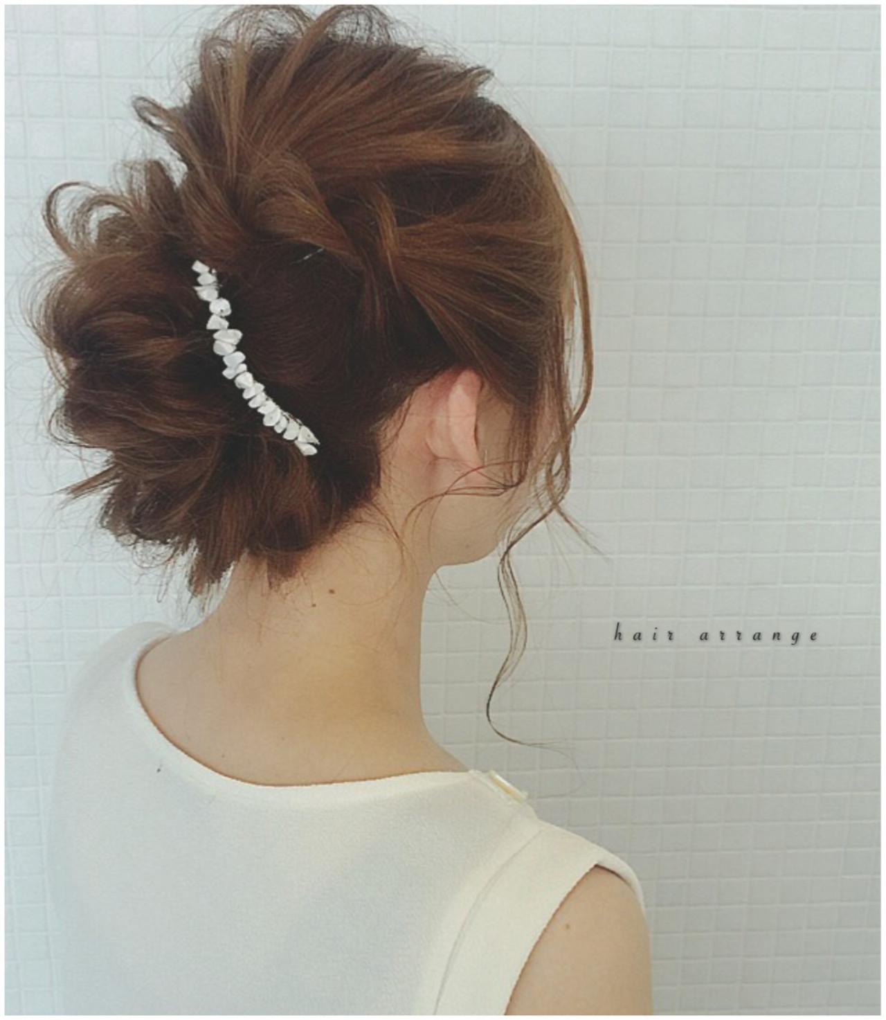 大人かわいい ヘアアレンジ ロング 結婚式 ヘアスタイルや髪型の写真・画像