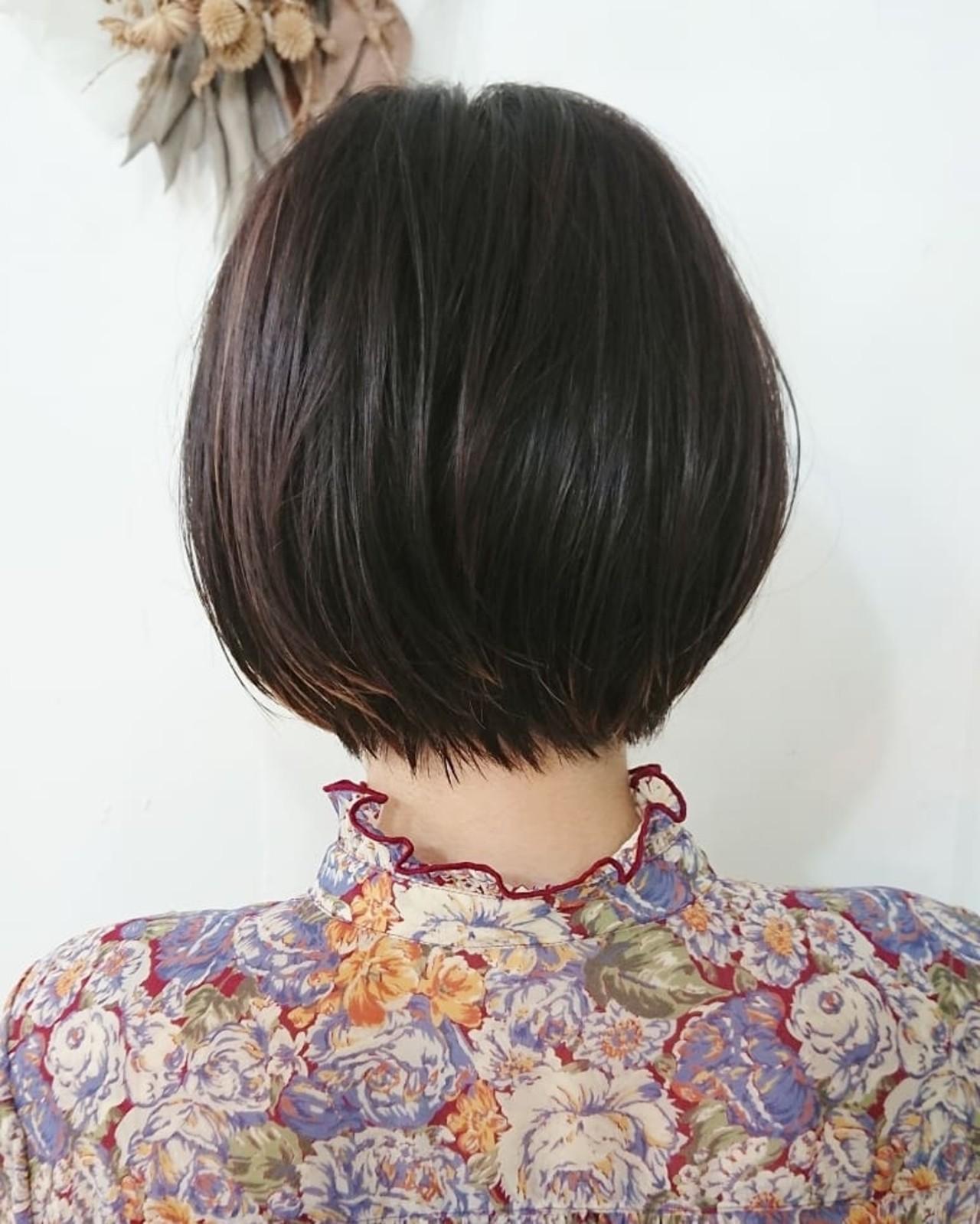 ショートヘア 前髪あり シースルーバング ショート ヘアスタイルや髪型の写真・画像   山口 華絵 Lépés Nakameguro / Lépés
