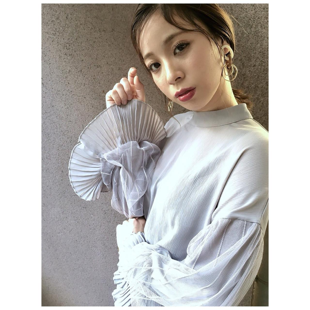 ヘアアレンジ クラシカル 大人カジュアル デート ヘアスタイルや髪型の写真・画像 | Yumi Hiramatsu / Sourire Imaizumi【スーリール イマイズミ】