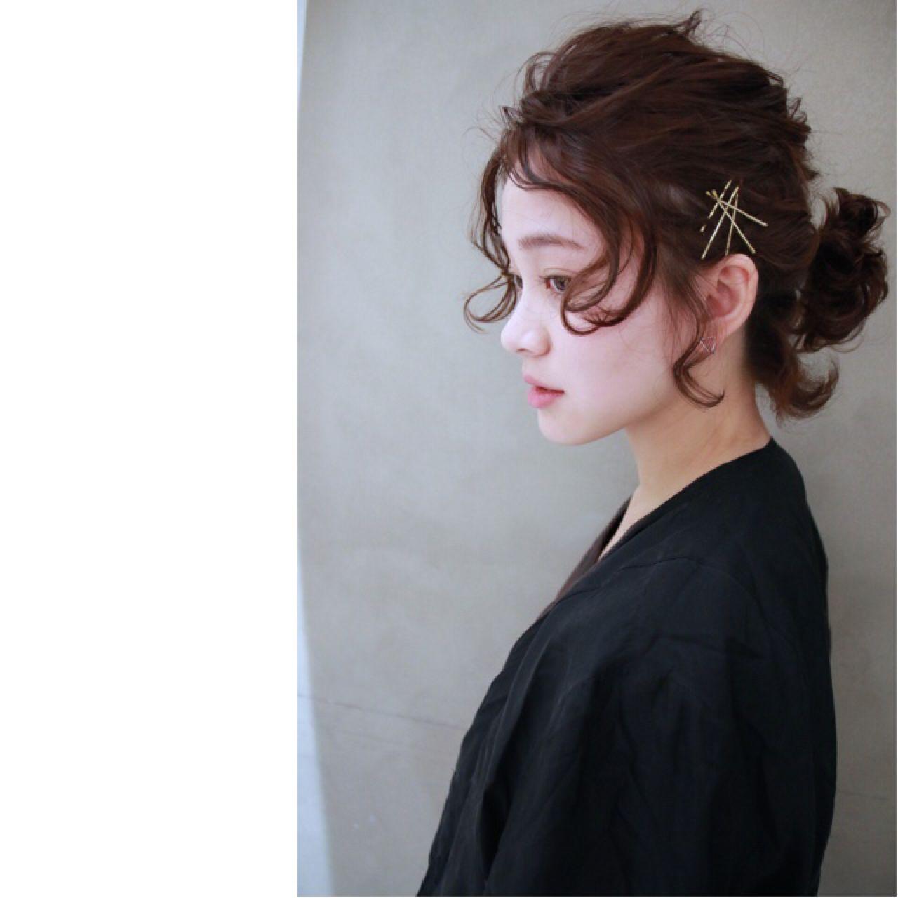 ヘアアレンジ ボブ ナチュラル ウェーブ ヘアスタイルや髪型の写真・画像 | 津崎 伸二 / nanuk / nanuk渋谷店(ナヌーク)