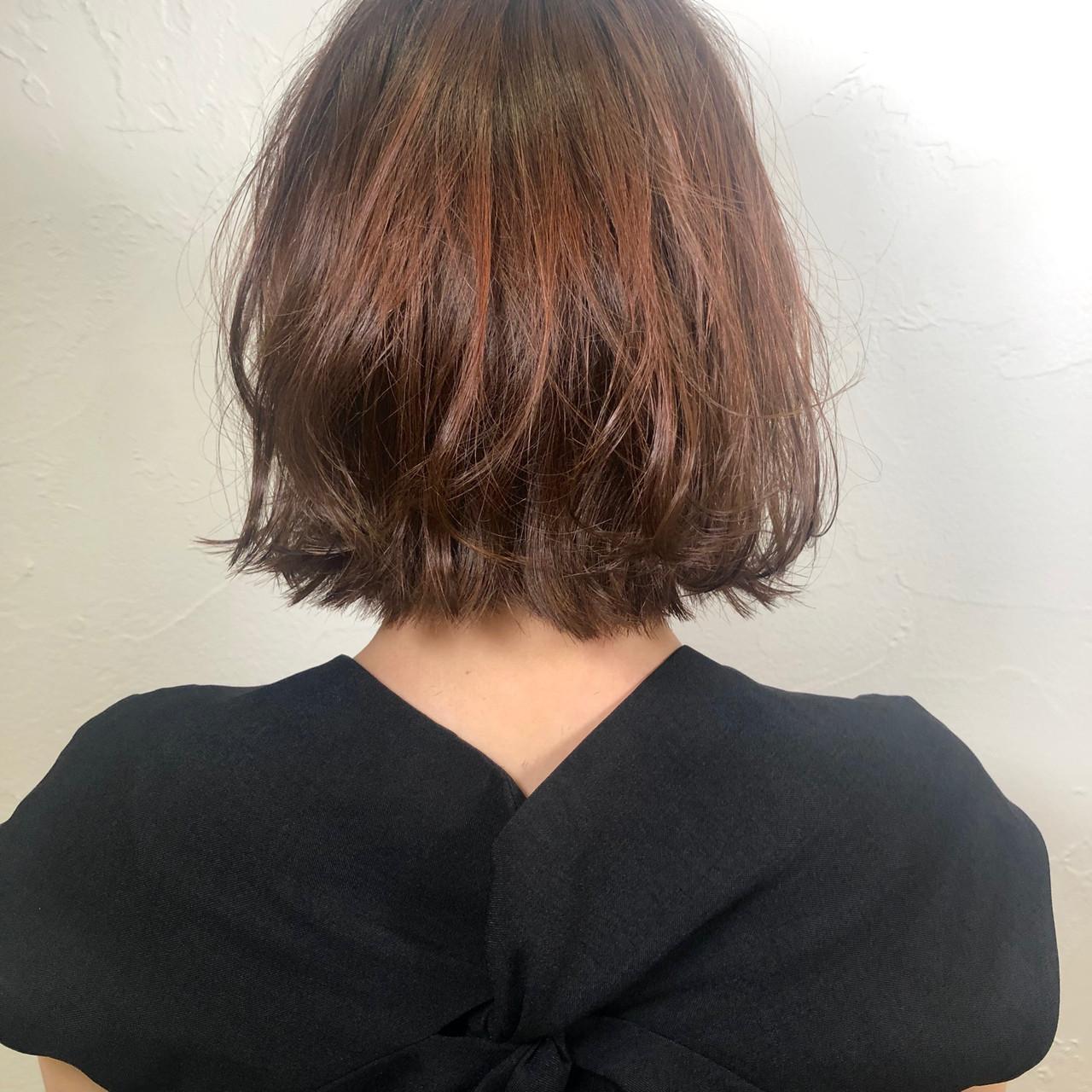 切りっぱなしボブ ミニボブ イルミナカラー ナチュラル ヘアスタイルや髪型の写真・画像 | ヨシオカナミ / WILLOW〜shrothair&shortbob〜
