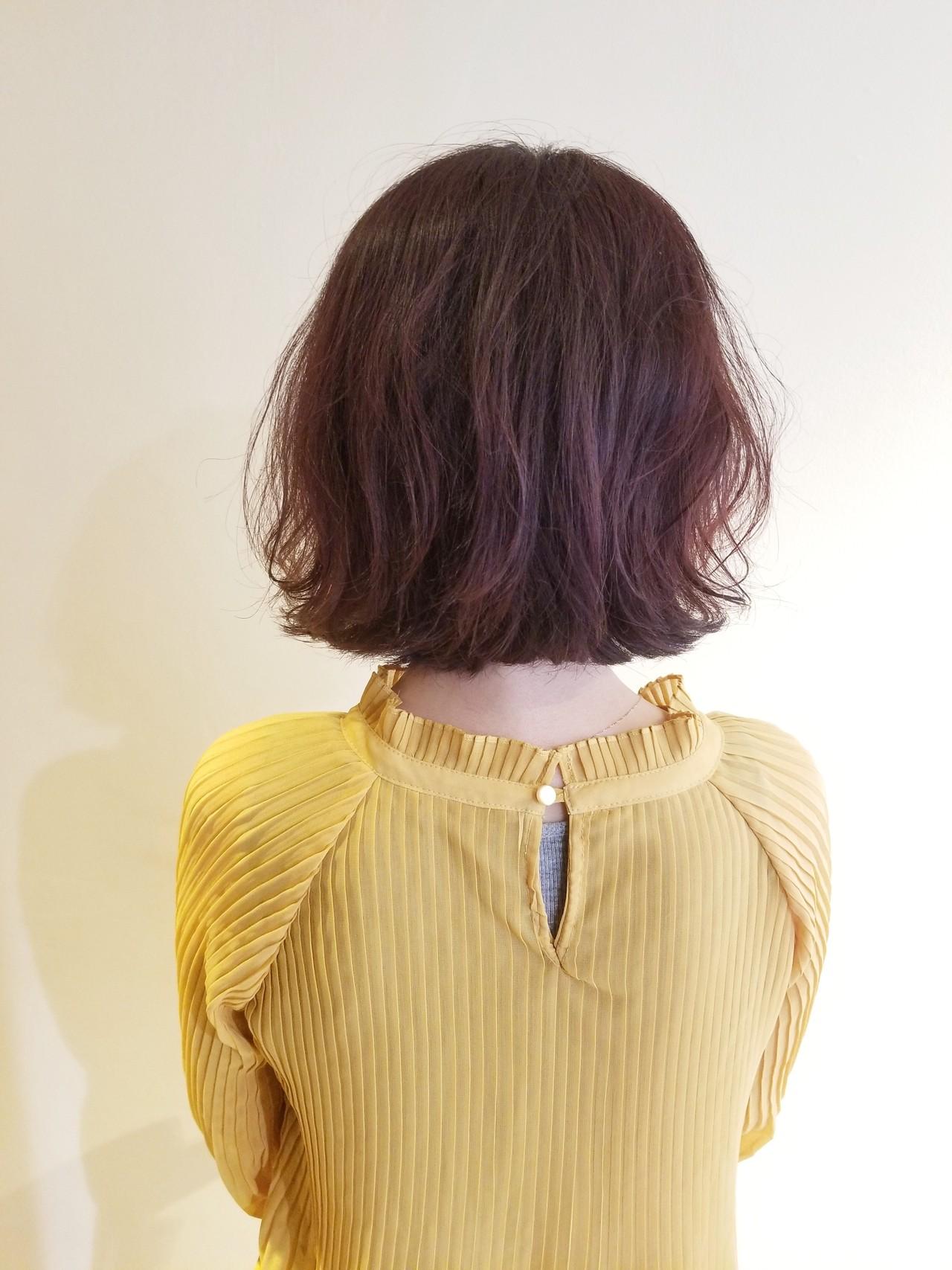 大人ミディアム フェミニン ボブ 大人カジュアル ヘアスタイルや髪型の写真・画像 | Naoko Miura / avant