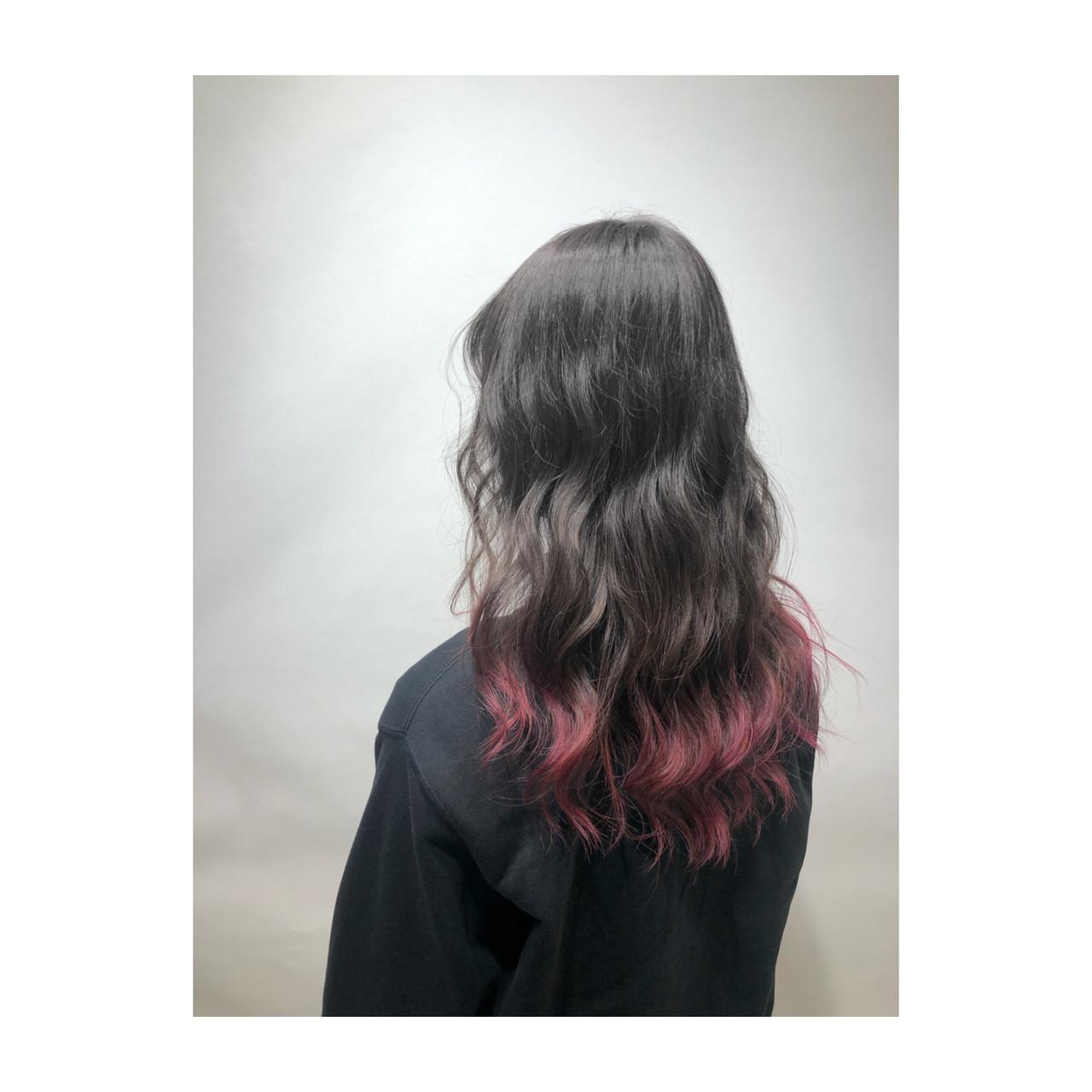 セミロング ラベンダーピンク ピンクバイオレット フェミニン ヘアスタイルや髪型の写真・画像 | 武石凌兵 / EARTH荻窪店