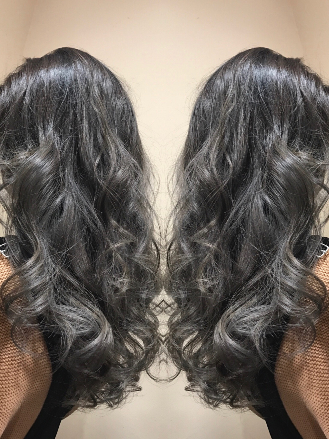 ガーリー ハイライト 透明感 バレイヤージュ ヘアスタイルや髪型の写真・画像