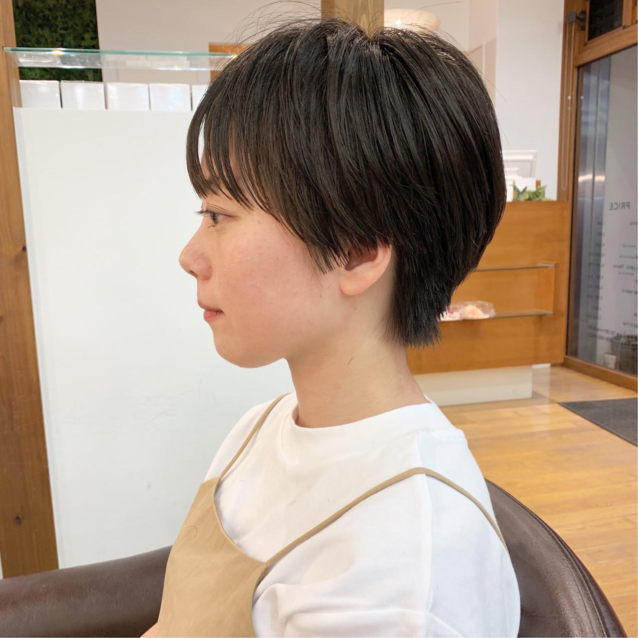 ショート ふんわり ハンサムショート 可愛い ヘアスタイルや髪型の写真・画像