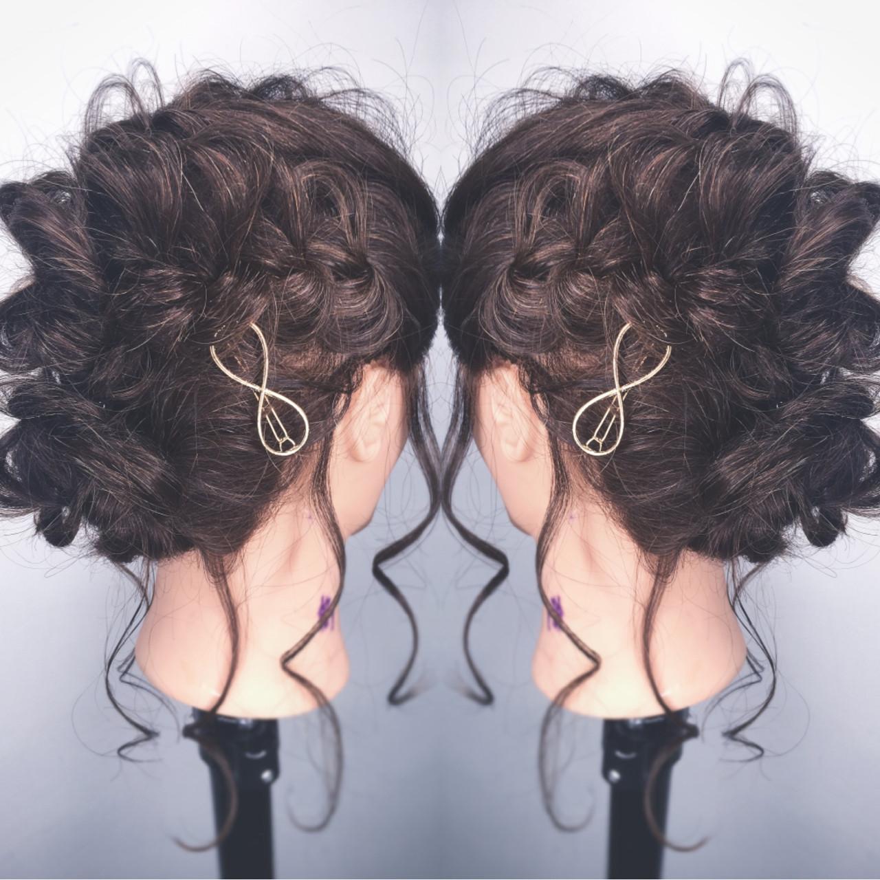 ヘアアレンジ ショート 編み込み デート ヘアスタイルや髪型の写真・画像