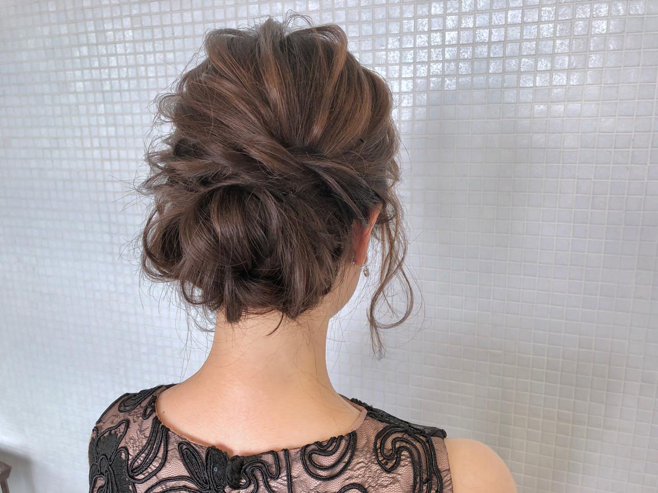 結婚式 上品 ロング エレガント ヘアスタイルや髪型の写真・画像