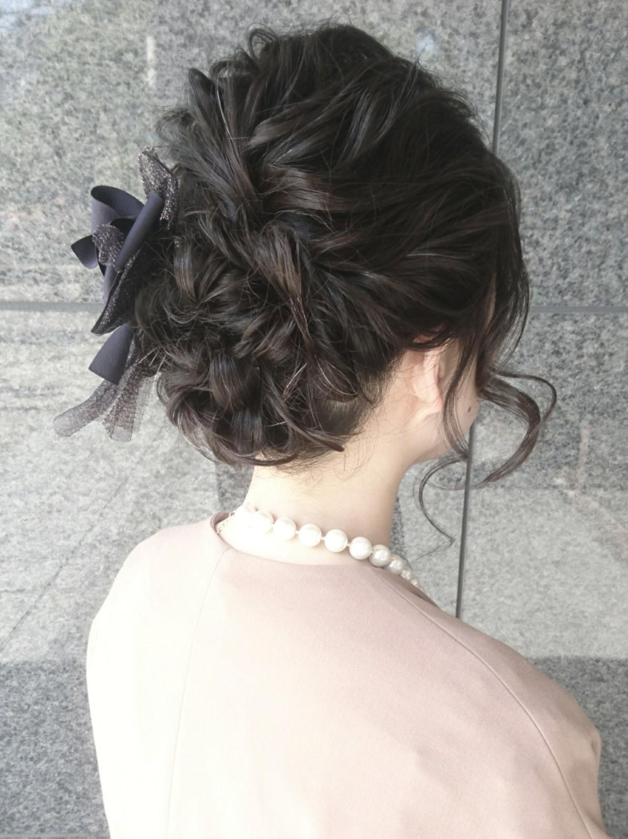 ミディアム ヘアアレンジ フェミニン こなれ感 ヘアスタイルや髪型の写真・画像 | 島田 和也 / hair&spa feliceMICHI