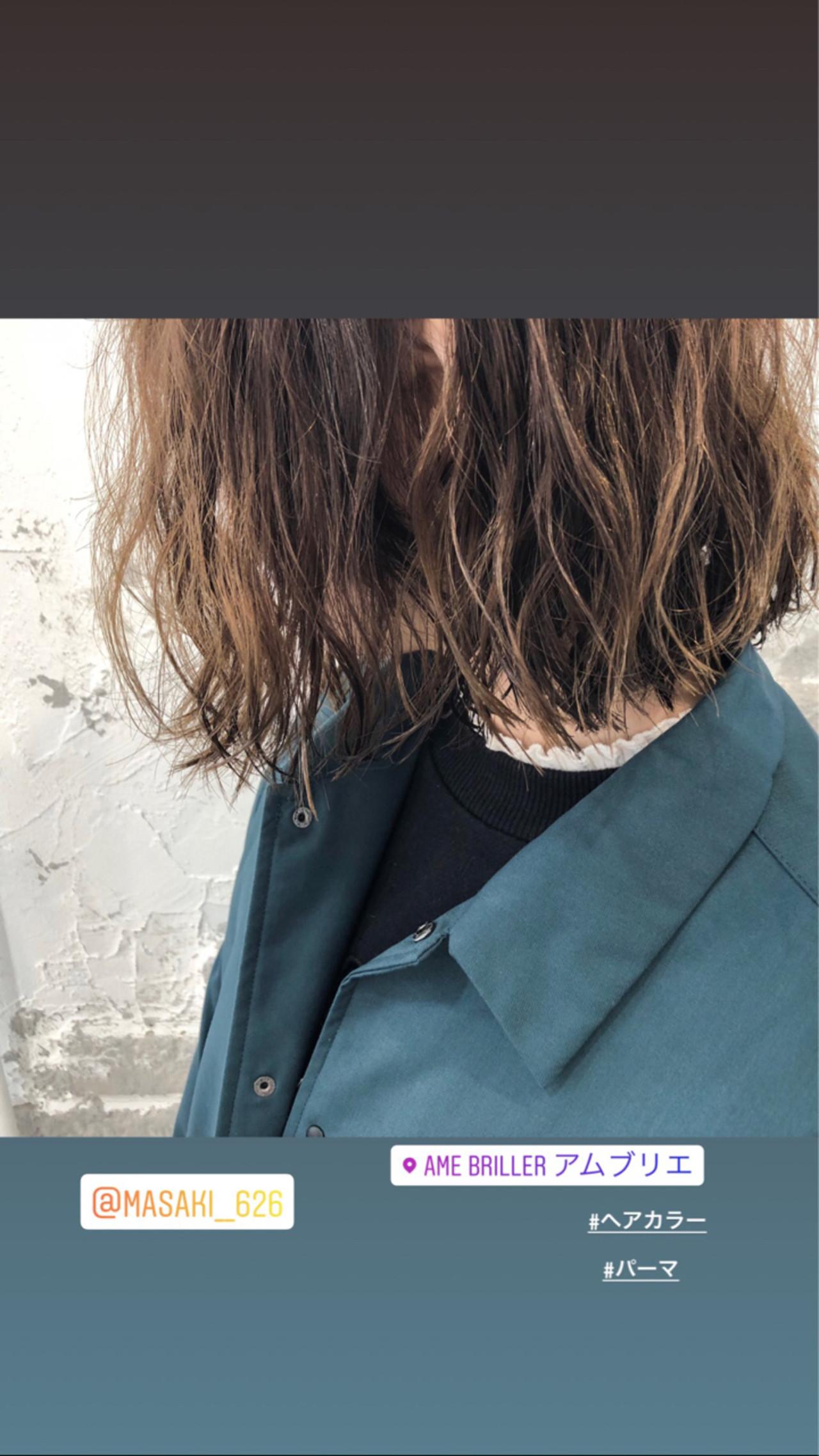 ゆるふわ 外国人風 ウェーブ パーマ ヘアスタイルや髪型の写真・画像 | 篠田 雅樹 / Ame briller 【アムブリエ】