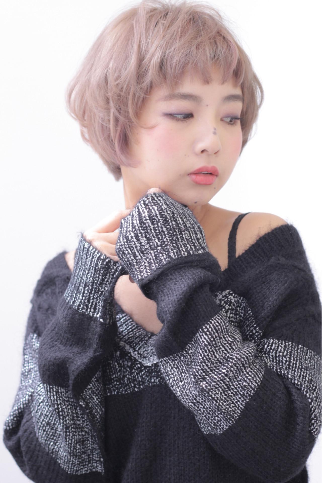 外国人風 アッシュ 前髪あり ショート ヘアスタイルや髪型の写真・画像 | 石田 学史 / DISHEL
