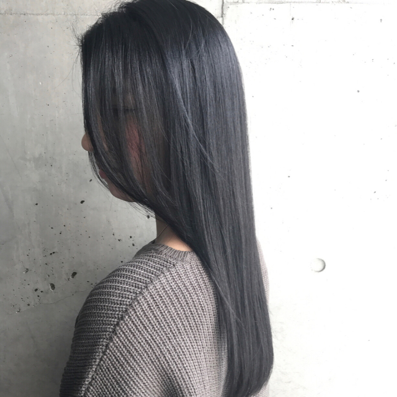 黒髪 ストレート ロング ワンカール ヘアスタイルや髪型の写真・画像