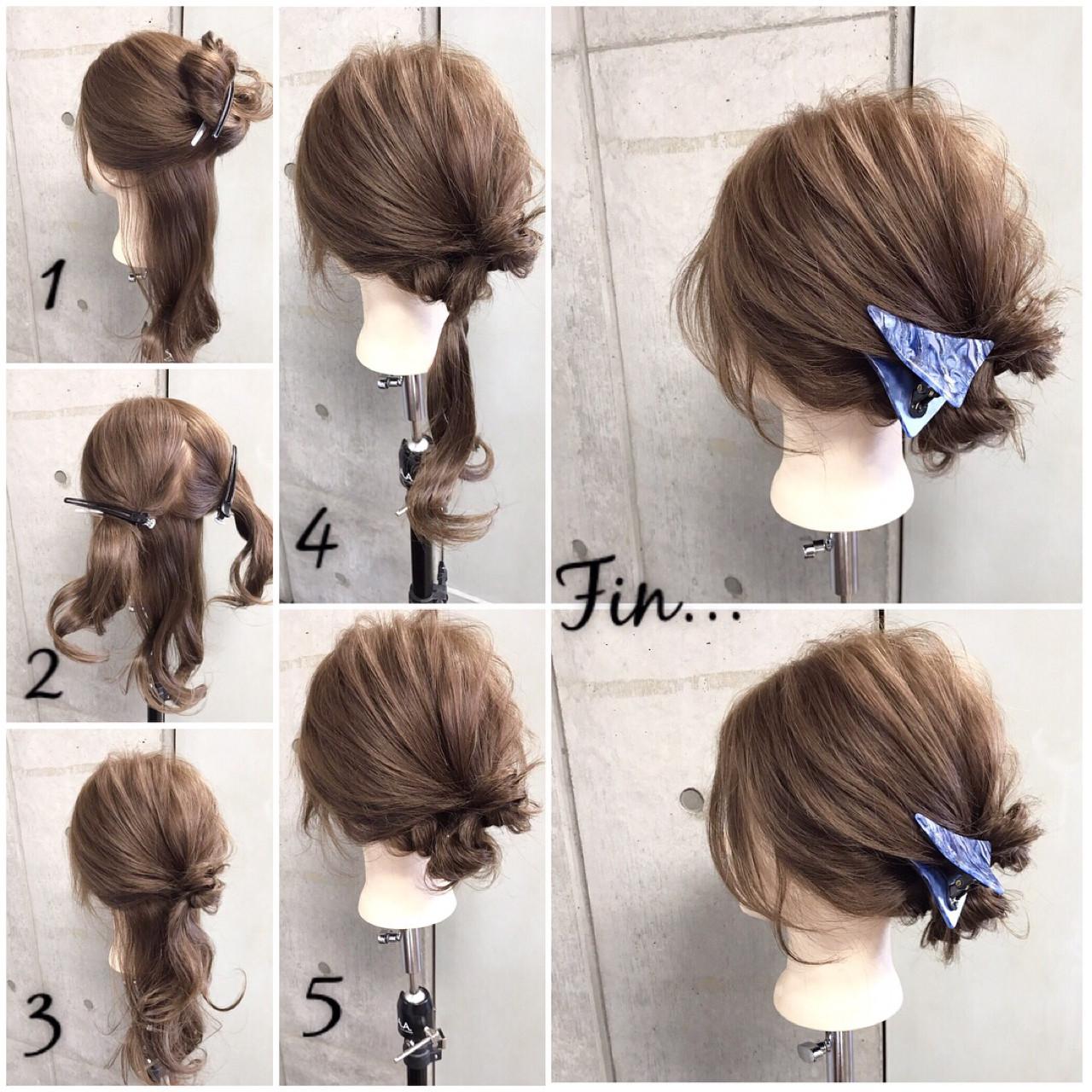 ヘアアレンジ セミロング 和装 簡単 ヘアスタイルや髪型の写真・画像