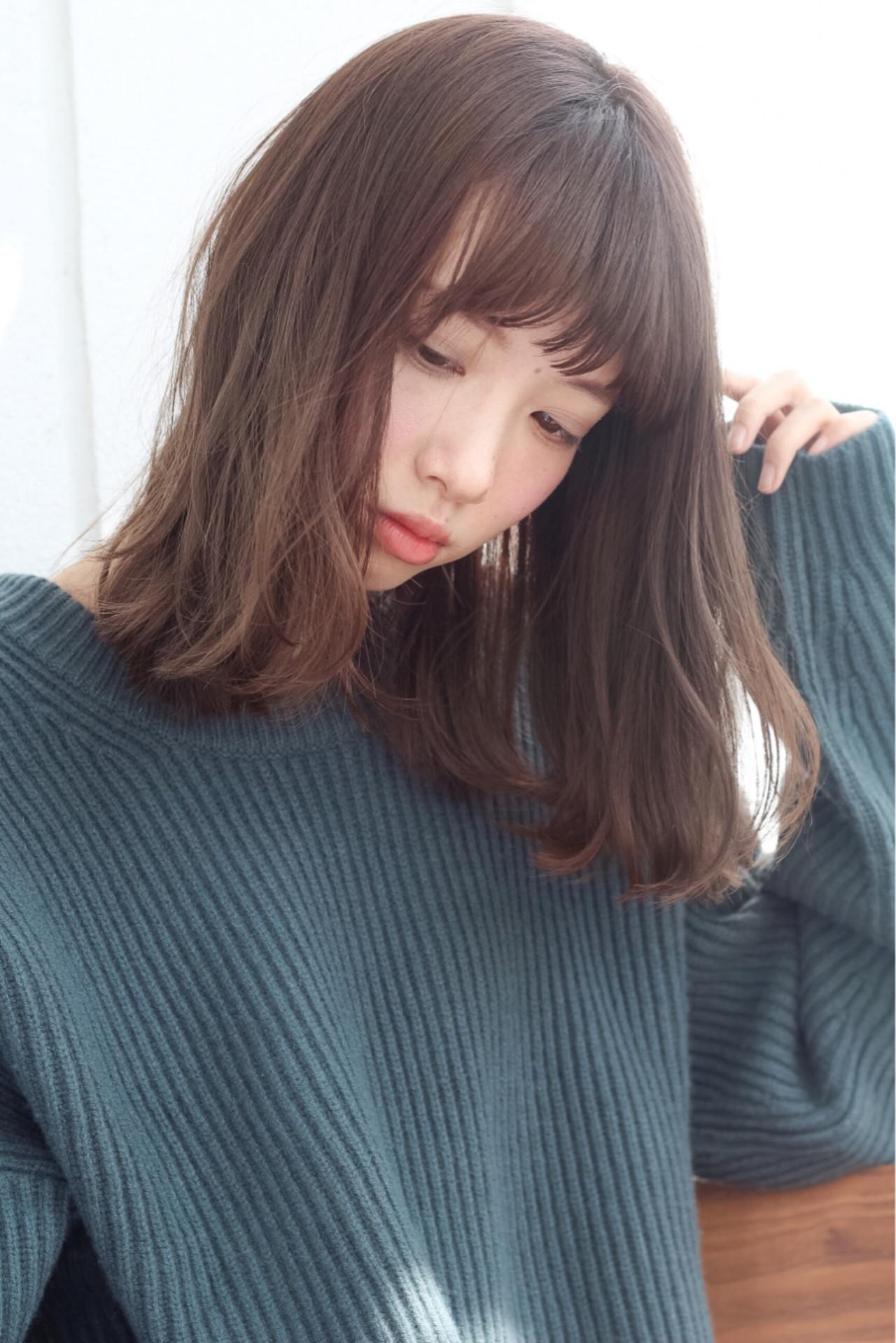 黒髪 大人女子 ガーリー 小顔 ヘアスタイルや髪型の写真・画像