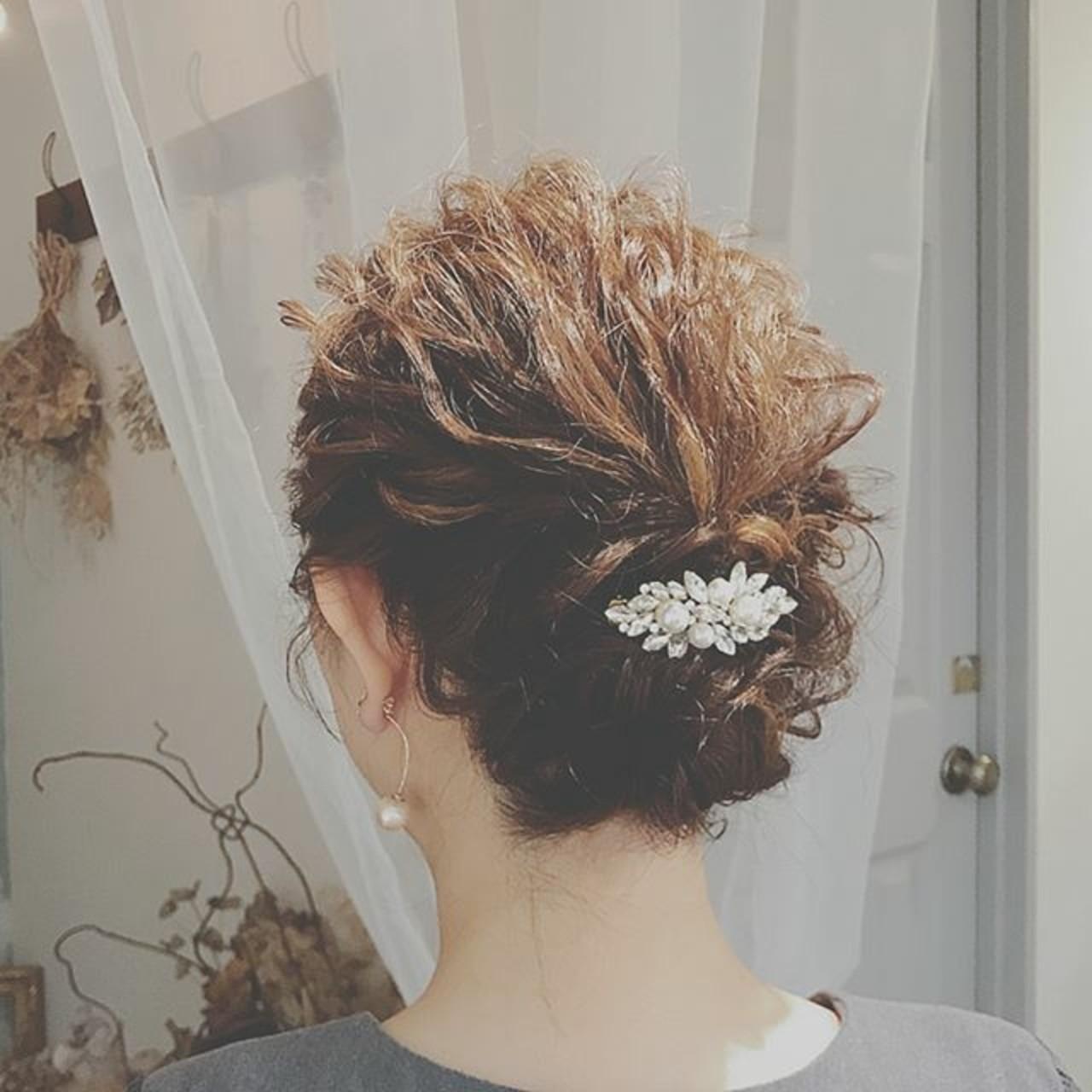 上品 結婚式 エレガント パーティ ヘアスタイルや髪型の写真・画像
