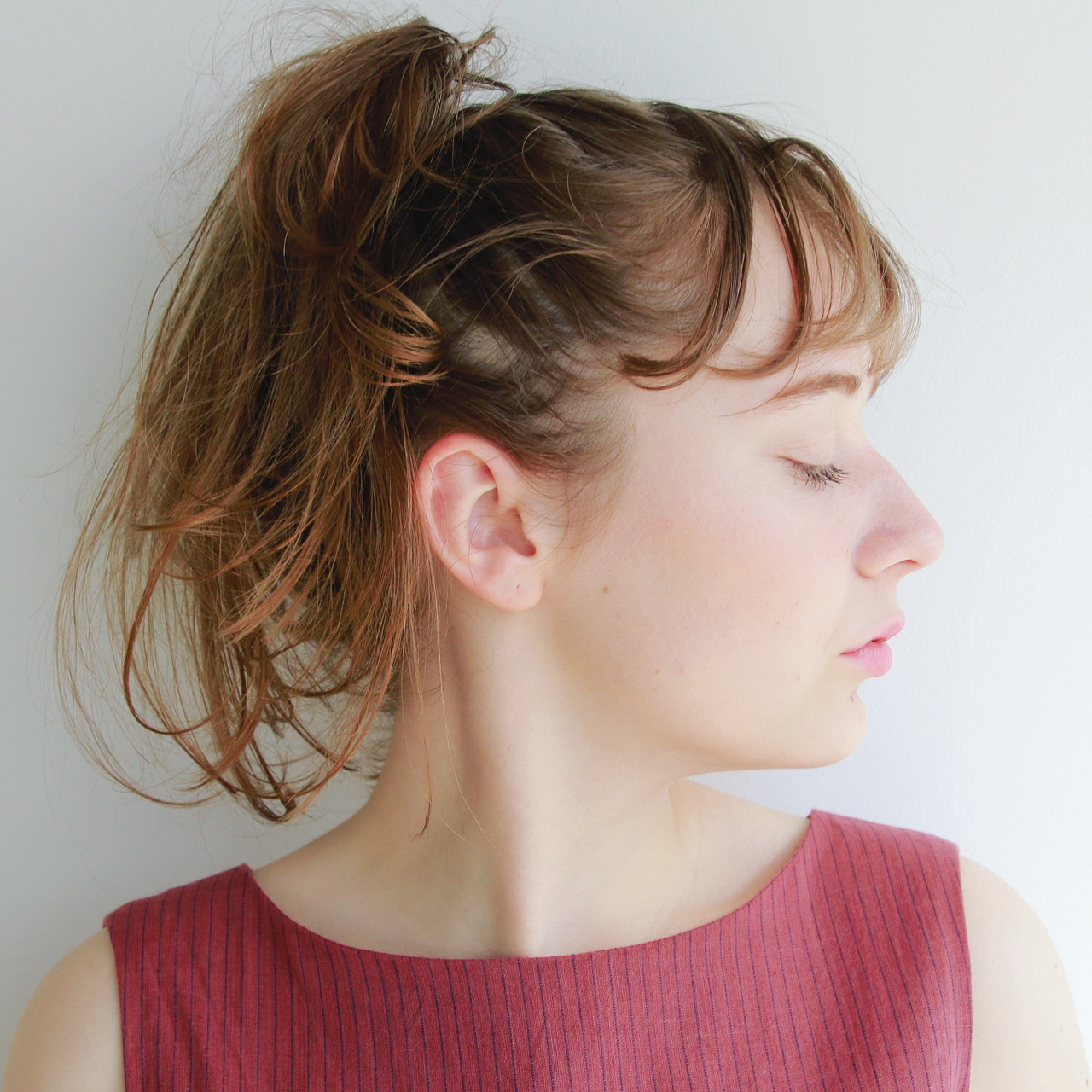 ナチュラル 簡単ヘアアレンジ セミロング パーティ ヘアスタイルや髪型の写真・画像