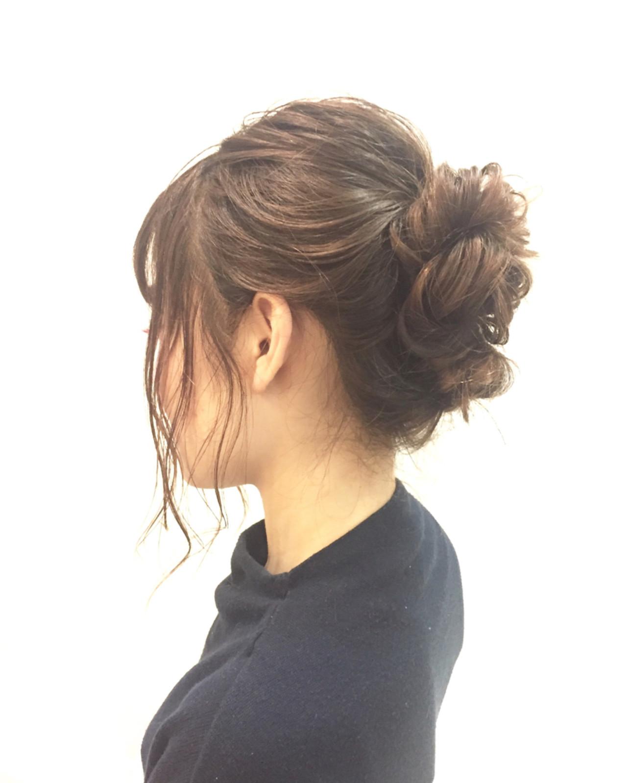 デート 女子会 簡単ヘアアレンジ オフィス ヘアスタイルや髪型の写真・画像