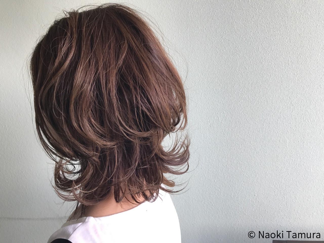 透明感 毛先パーマ ナチュラル 秋 ヘアスタイルや髪型の写真・画像 | Naoki Tamura / 、