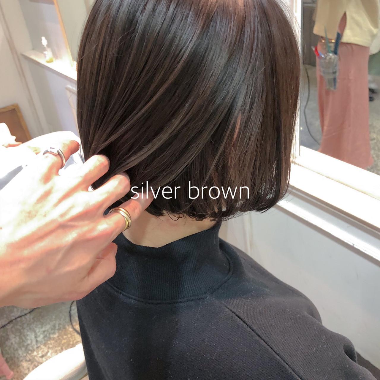 イルミナカラー ボブ 外国人風カラー ミニボブ ヘアスタイルや髪型の写真・画像 | ikeo gaku / H-eitf