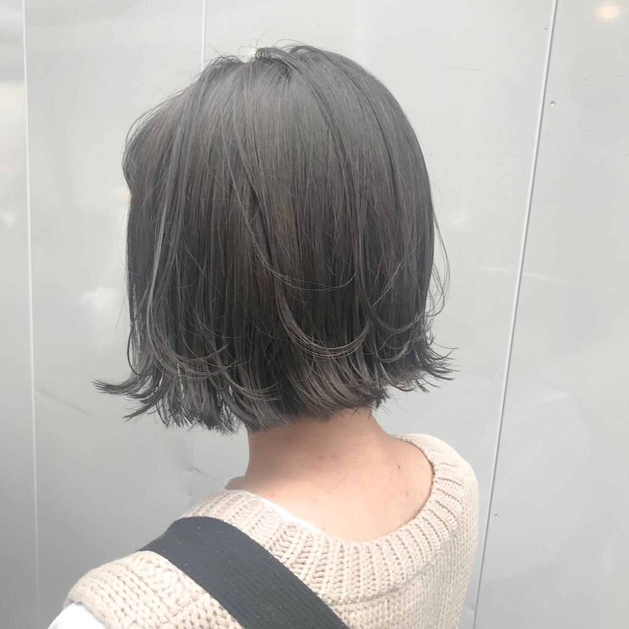 ミニボブ ショートヘア ガーリー ショートボブ ヘアスタイルや髪型の写真・画像 | aya / RITA&Co.大宮東口店
