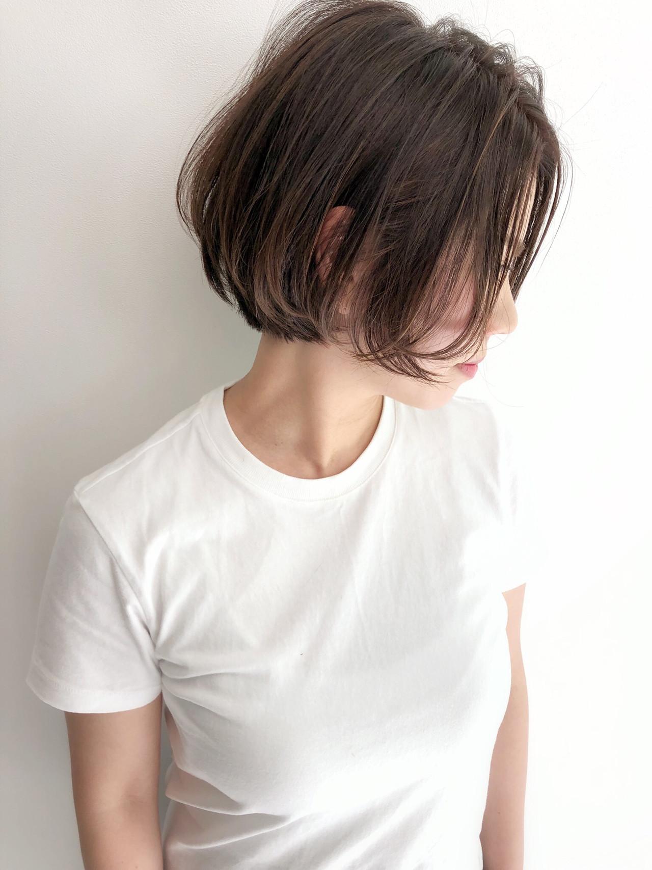 ミニボブ ボブ ナチュラル ボブヘアー ヘアスタイルや髪型の写真・画像