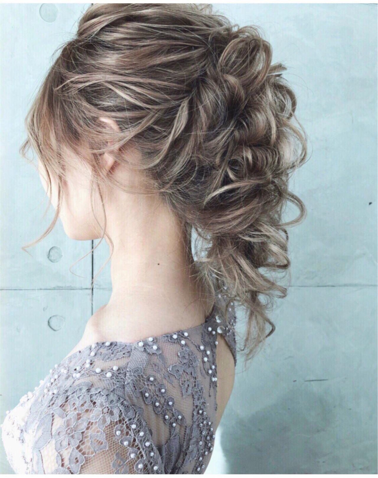 上品 アンニュイ ヘアアレンジ エレガント ヘアスタイルや髪型の写真・画像