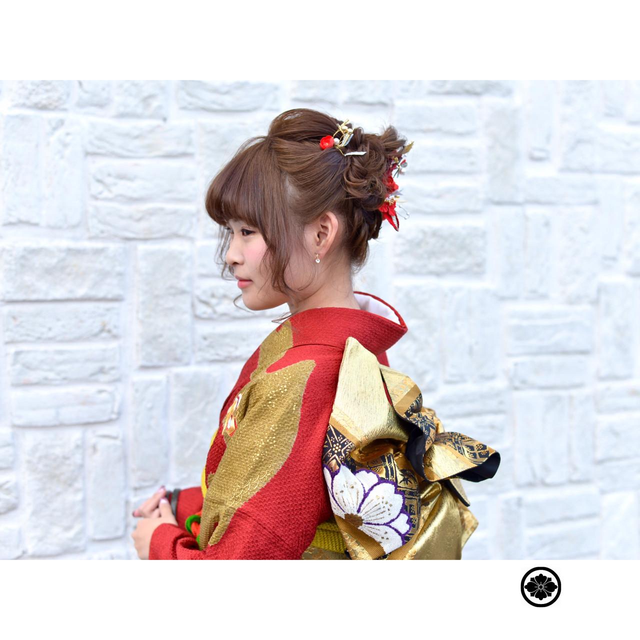 成人式 ゆるふわ ショート ヘアアレンジ ヘアスタイルや髪型の写真・画像 | 中野 裕介/jap international / JAP international Ssalon