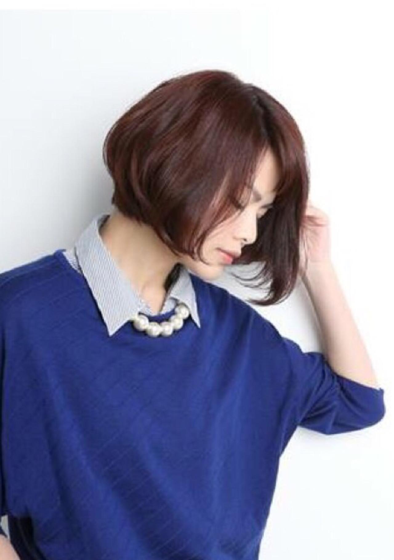色気 ボブ コンサバ 暗髪 ヘアスタイルや髪型の写真・画像 | 林 義人 / ASSEMBLAGE