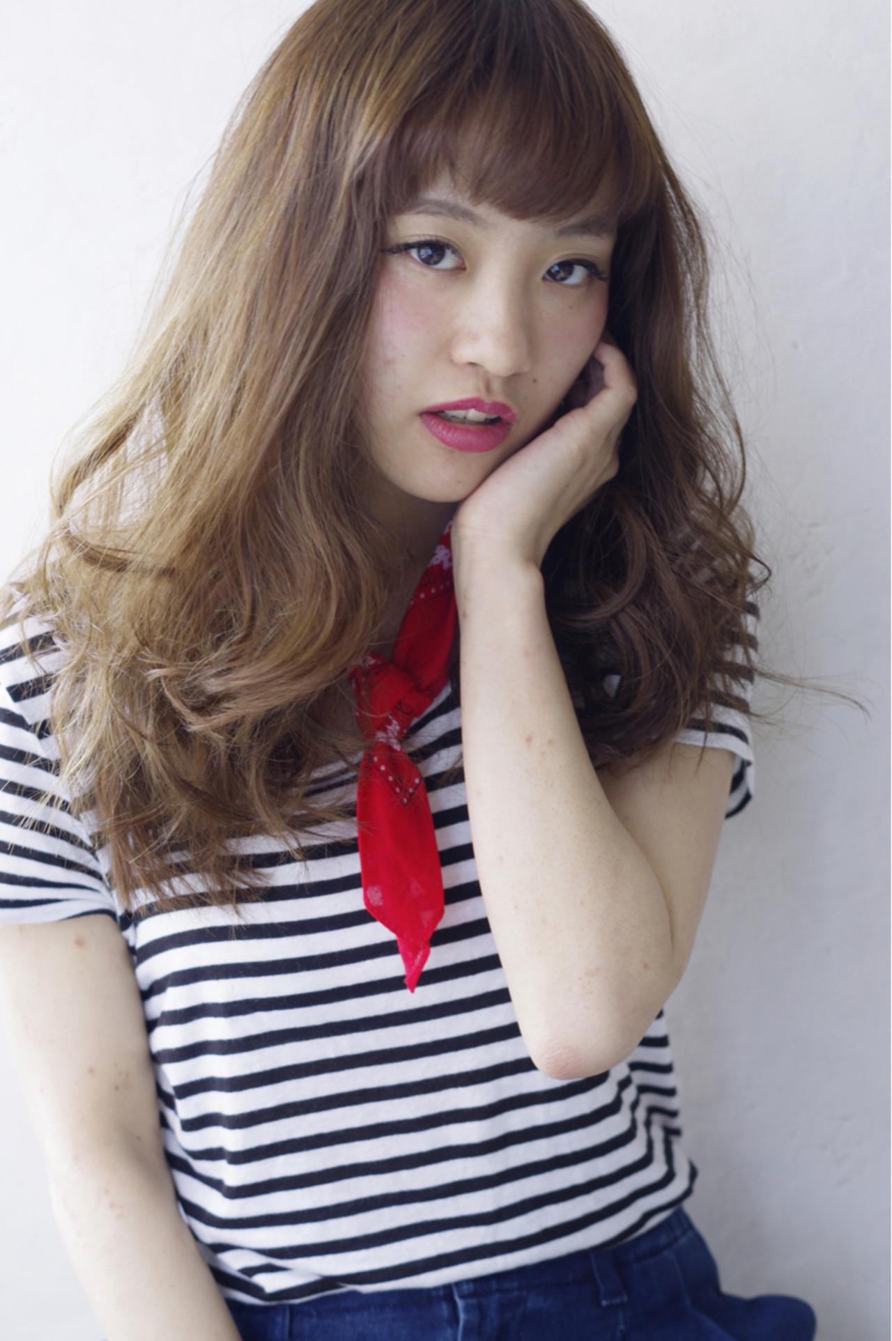 ガーリー 大人かわいい ブラウン フェミニン ヘアスタイルや髪型の写真・画像 | 上鶴 悠貴 / AMME