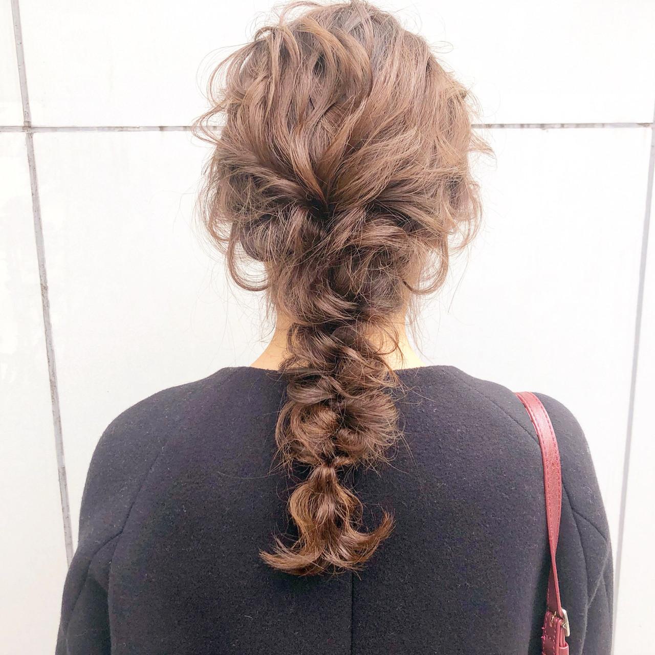結婚式 アンニュイほつれヘア ロング 簡単ヘアアレンジ ヘアスタイルや髪型の写真・画像