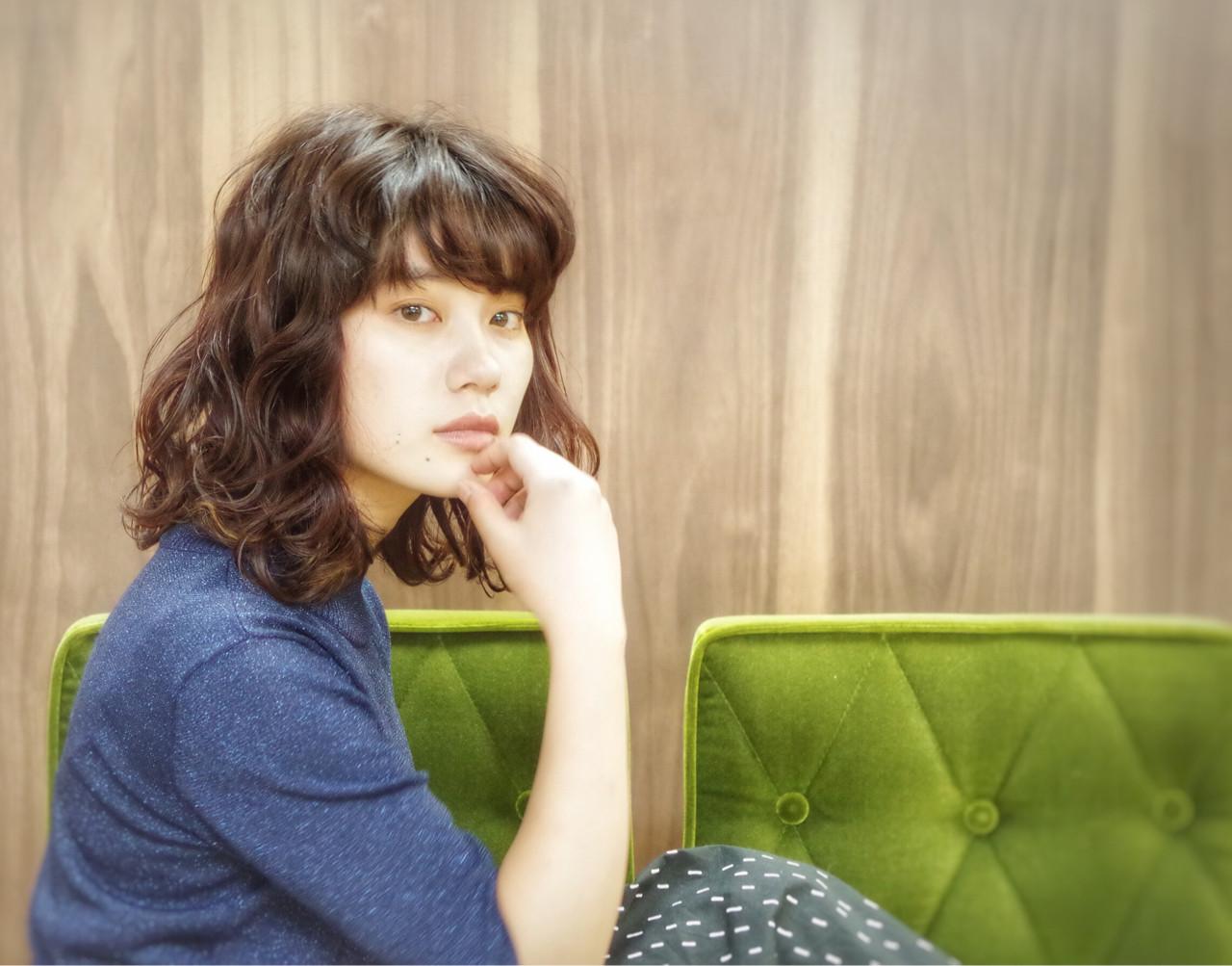 セミロング ワイドバング ピュア 大人かわいい ヘアスタイルや髪型の写真・画像 | 山本悠平 / hair salon nano