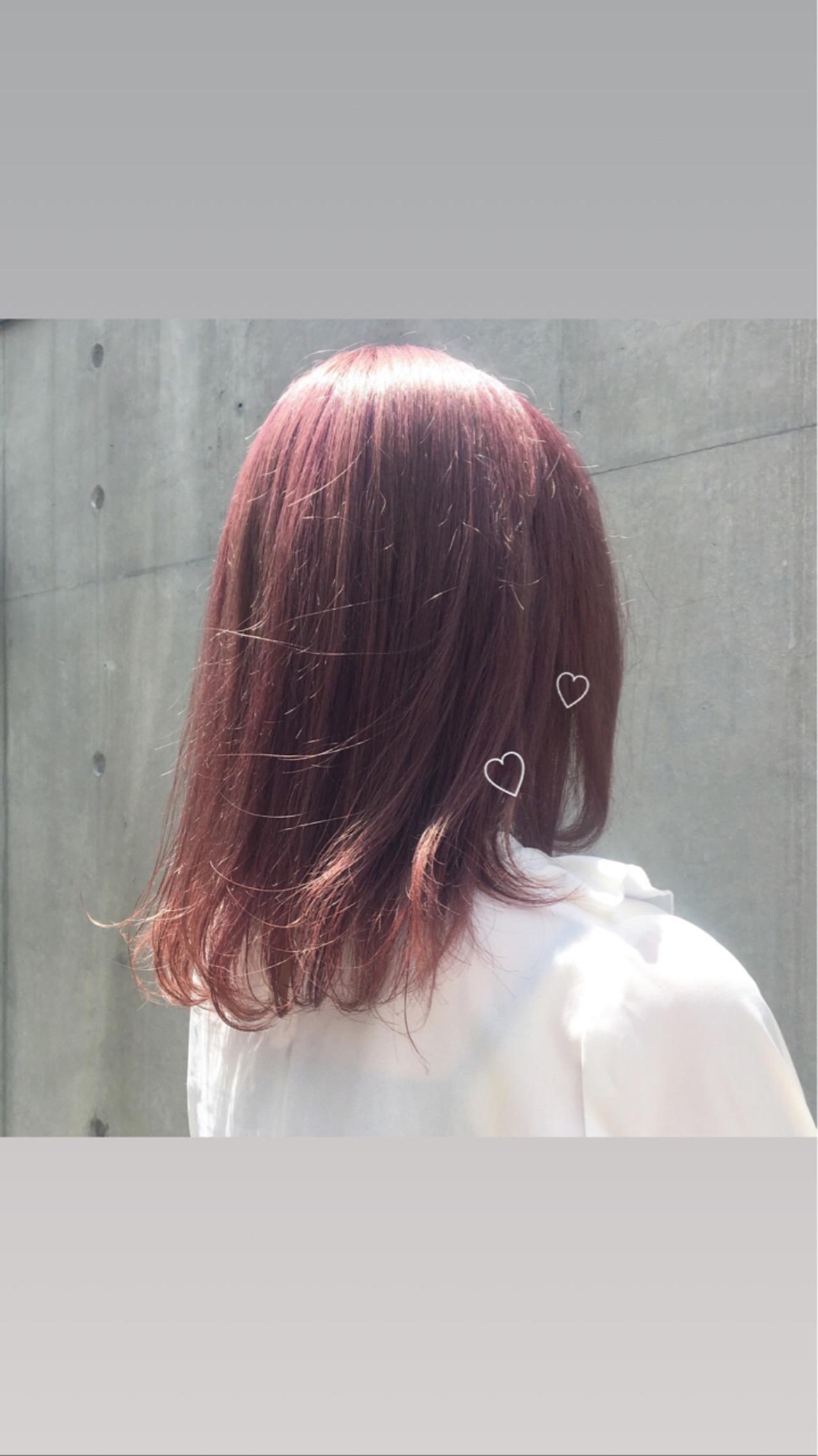 ナチュラル ラベンダーピンク ピンクアッシュ ガーリー ヘアスタイルや髪型の写真・画像 | ゆうみ /