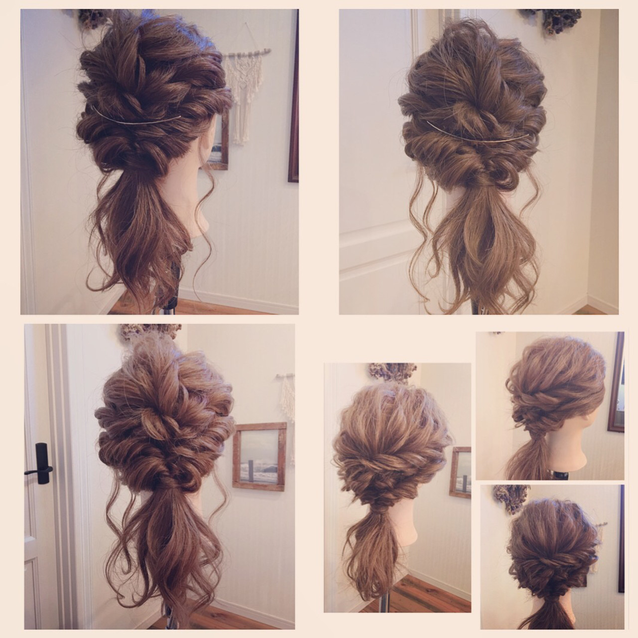 フェミニン ヘアアレンジ ロング 簡単ヘアアレンジ ヘアスタイルや髪型の写真・画像   MOMOKO / HairworksZEAL