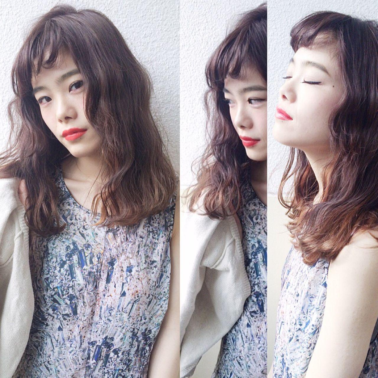 ストレート 暗髪 ストリート ウェットヘア ヘアスタイルや髪型の写真・画像   Sachiko Handa / assort