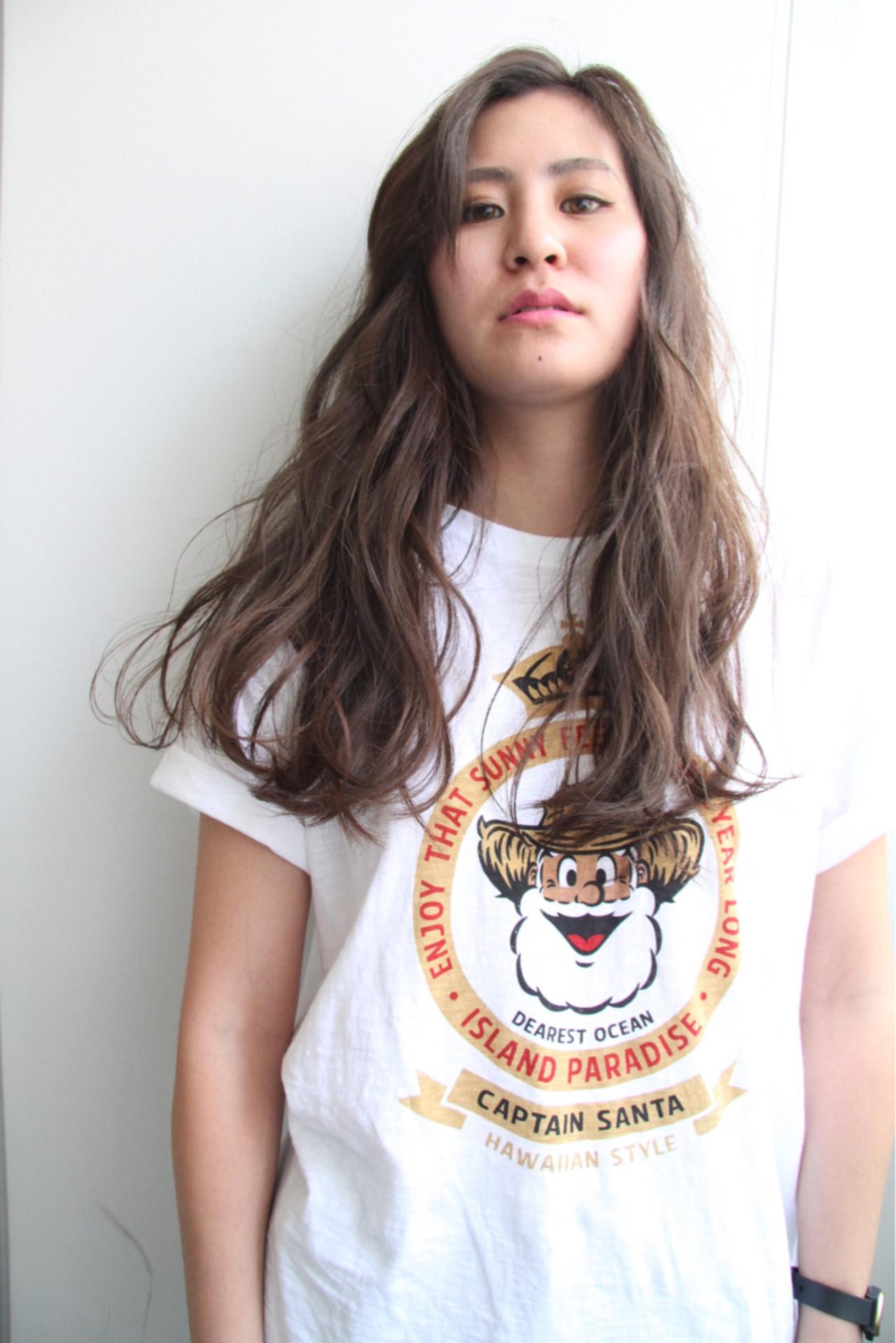 アッシュ ロング ストリート 外国人風カラー ヘアスタイルや髪型の写真・画像   山田 力夢 (イサム) / モッズヘア仙台パルコ