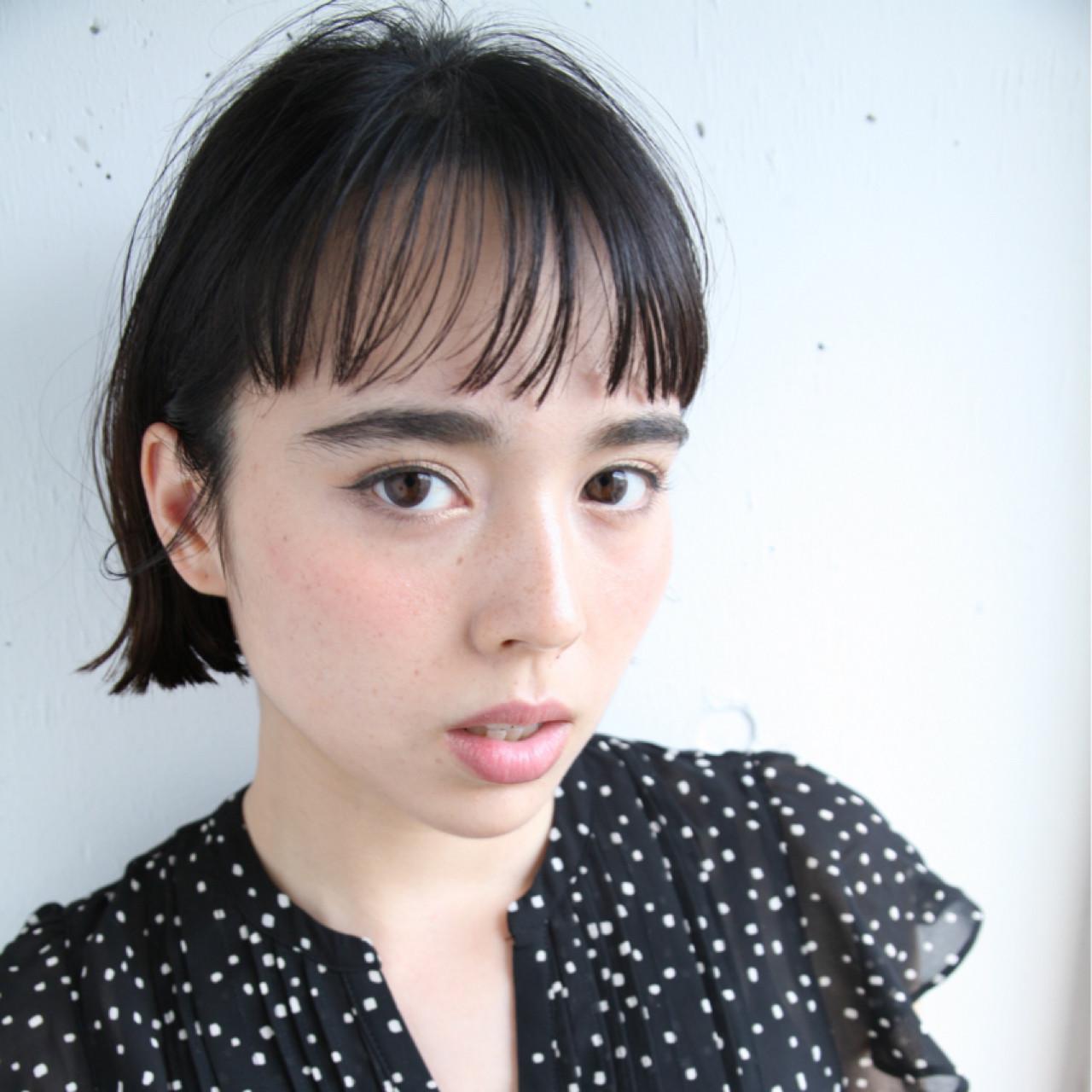 ナチュラル 抜け感 透明感 前髪あり ヘアスタイルや髪型の写真・画像 | 小西敬二郎 / Heartim