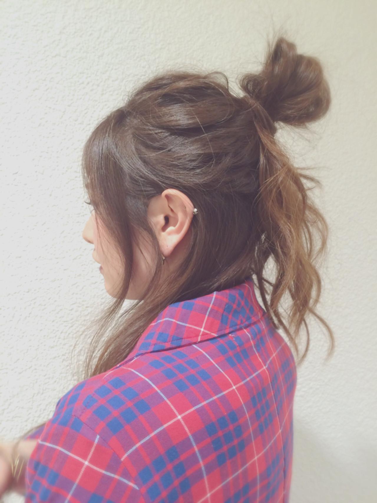 簡単ヘアアレンジ ウェーブ ロング ヘアアレンジ ヘアスタイルや髪型の写真・画像 | hitomi /