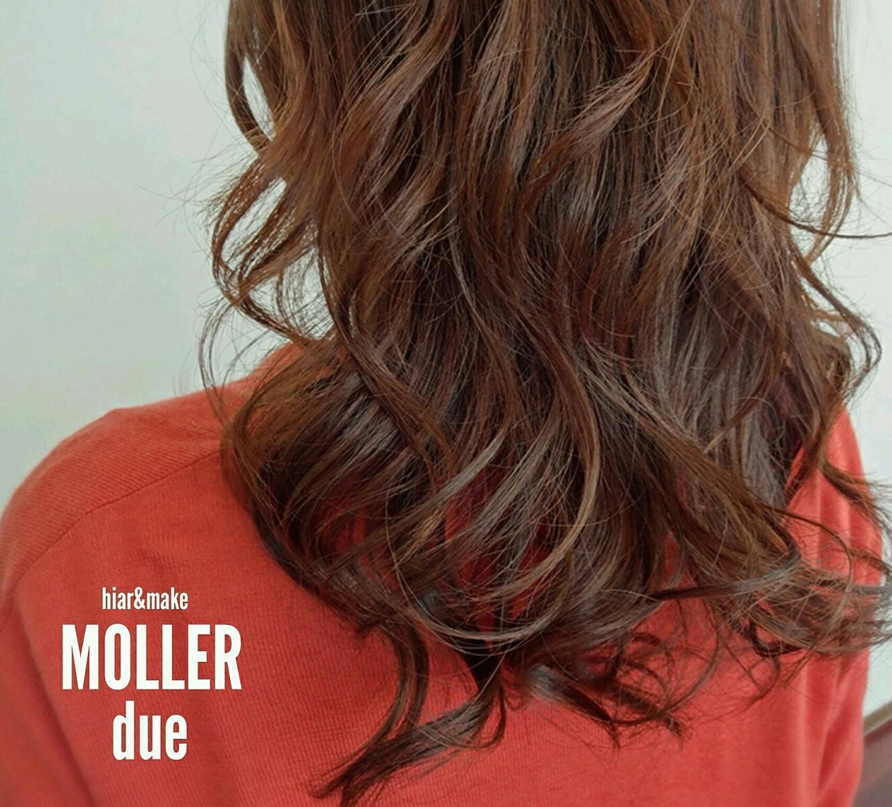 ロング ハイライト グラデーションカラー 大人かわいい ヘアスタイルや髪型の写真・画像 | 吉村俊宏 / hair&make MOLLER due
