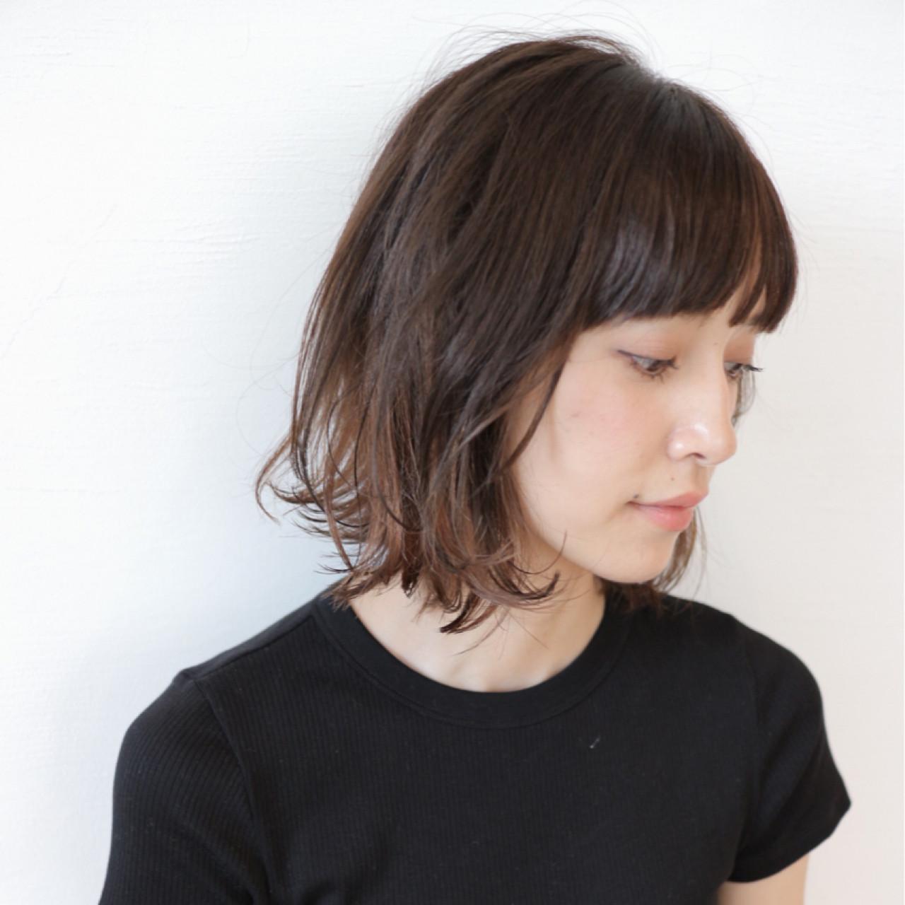 インナーカラー 外国人風 ボブ 抜け感 ヘアスタイルや髪型の写真・画像