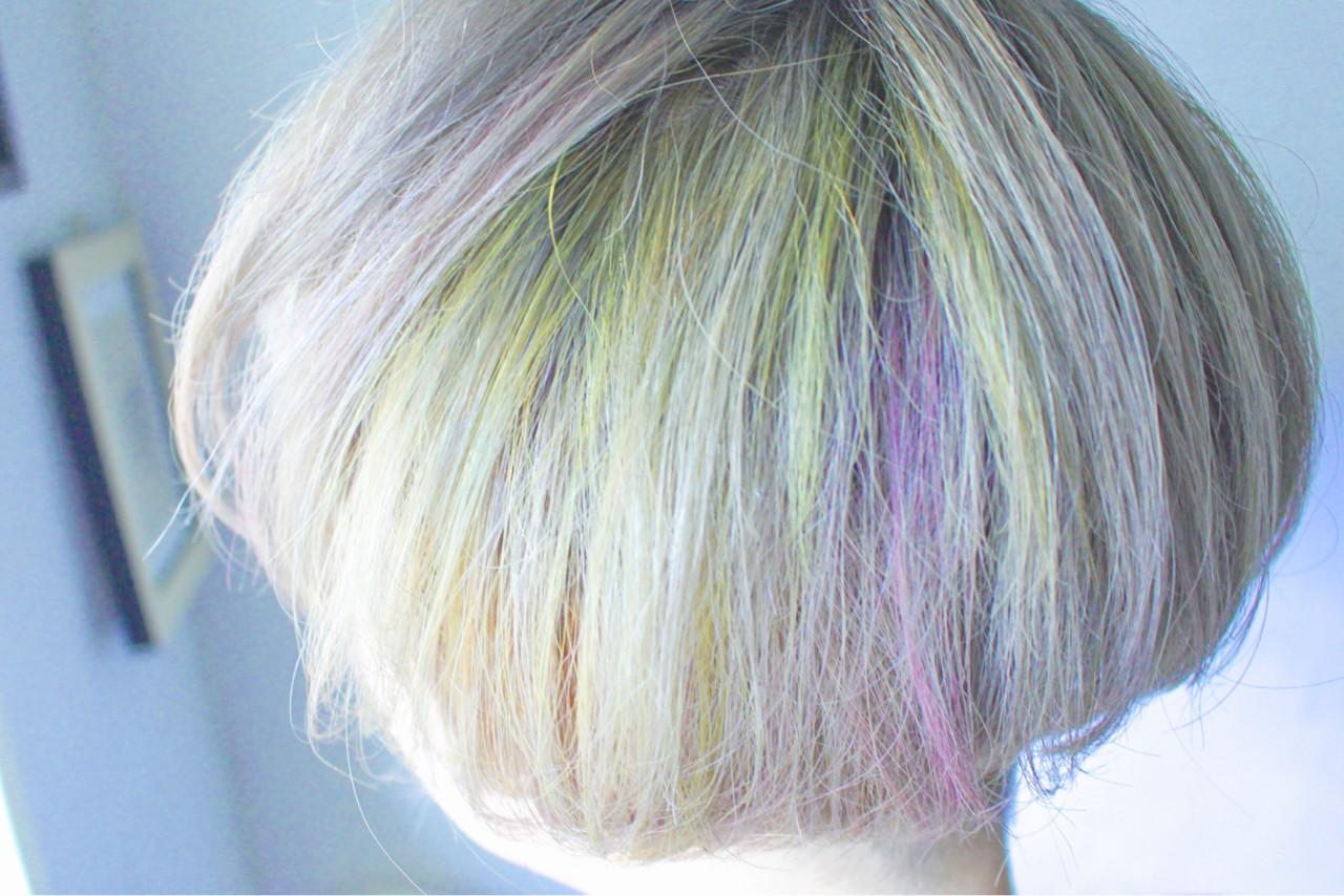 ナチュラル ボブ 外国人風カラー ダブルカラー ヘアスタイルや髪型の写真・画像 | creap / creap