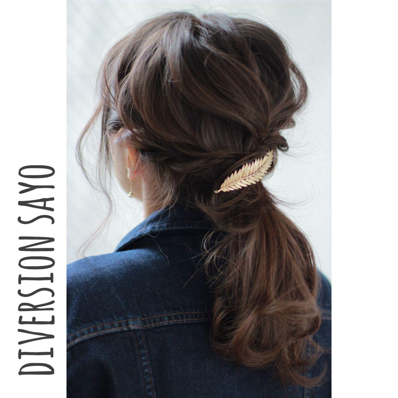 ロープ編み ナチュラル 編み込み ゆるふわ ヘアスタイルや髪型の写真・画像