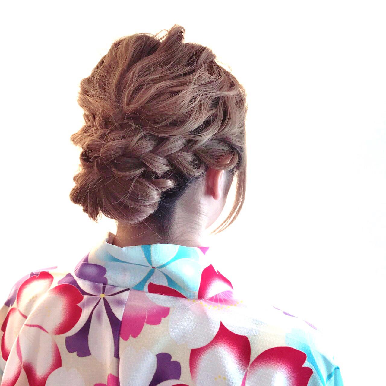 パーティ 結婚式 ロング ゆるふわ ヘアスタイルや髪型の写真・画像 | マスダ トシエ / lafit