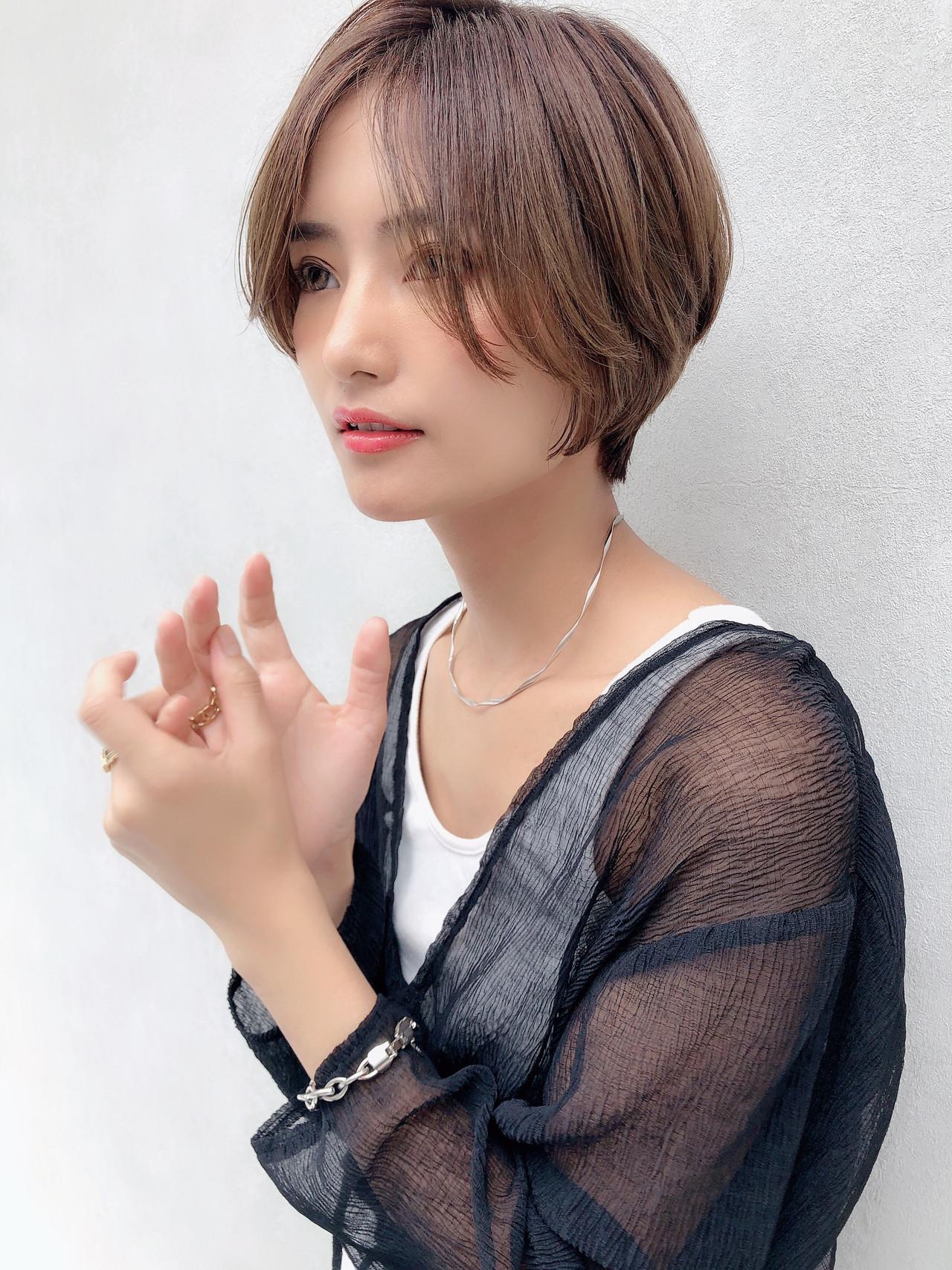 ヘアアレンジ ショート パーマ デート ヘアスタイルや髪型の写真・画像 | 北村 亮 / Lano by HAIR
