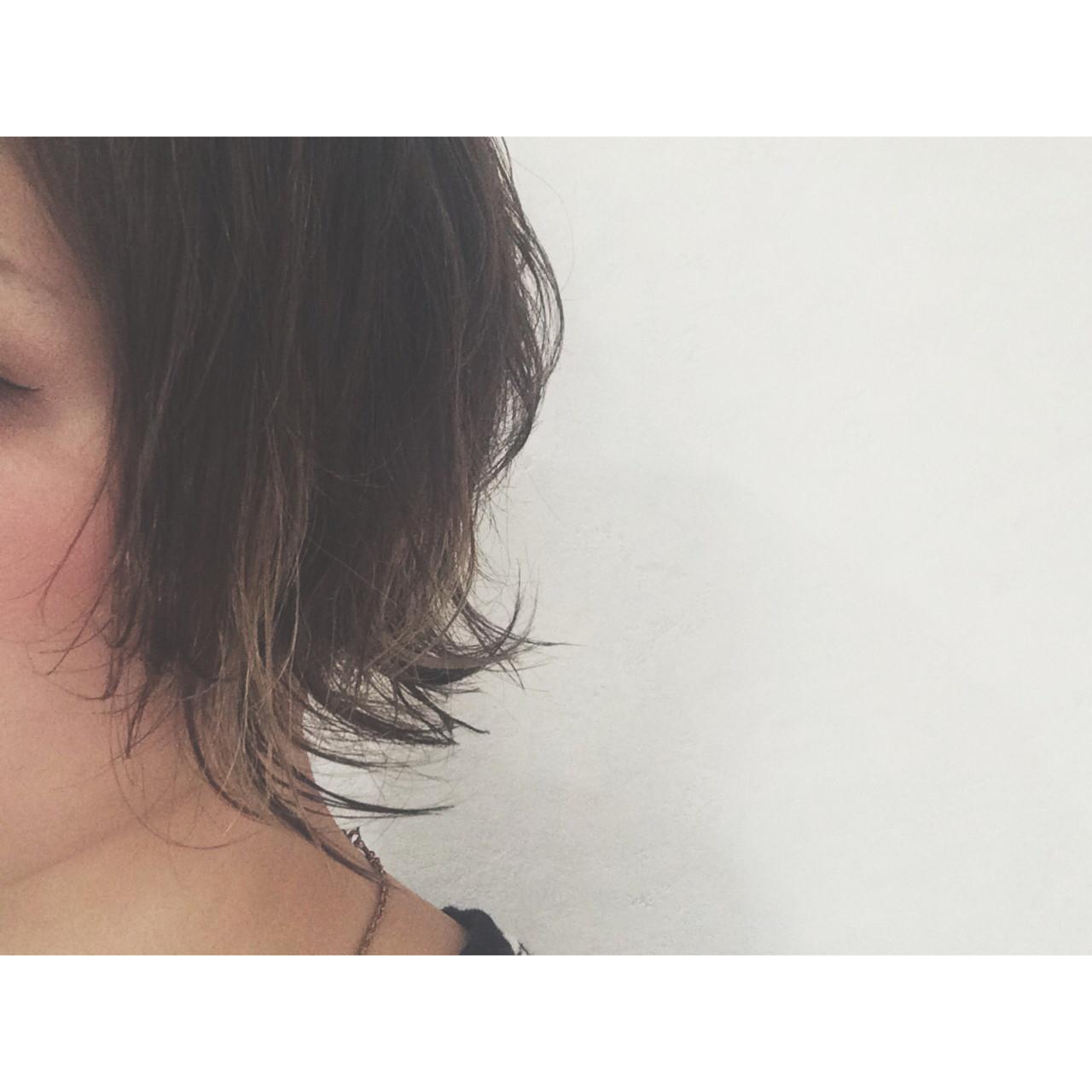 ハイライト グラデーションカラー 外国人風 ゆるふわ ヘアスタイルや髪型の写真・画像   田中千枝子/大阪のショート・ボブ♡ / BELO  OSAKA(ベロ 大阪)