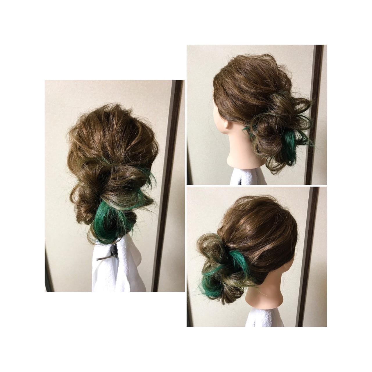 くるりんぱ 編み込み フェミニン 後れ毛 ヘアスタイルや髪型の写真・画像 | 甲田光樹 / 【Libett】リベット