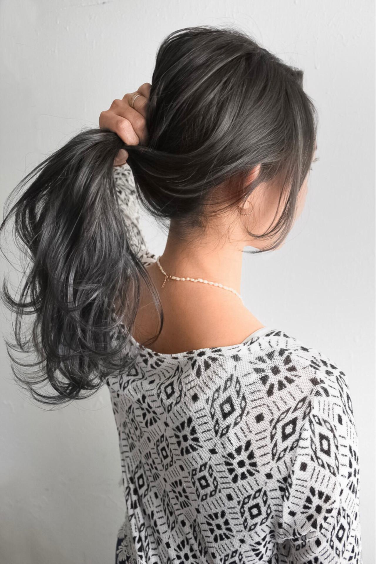 ナチュラル ヘアアレンジ ハイライト ロング ヘアスタイルや髪型の写真・画像