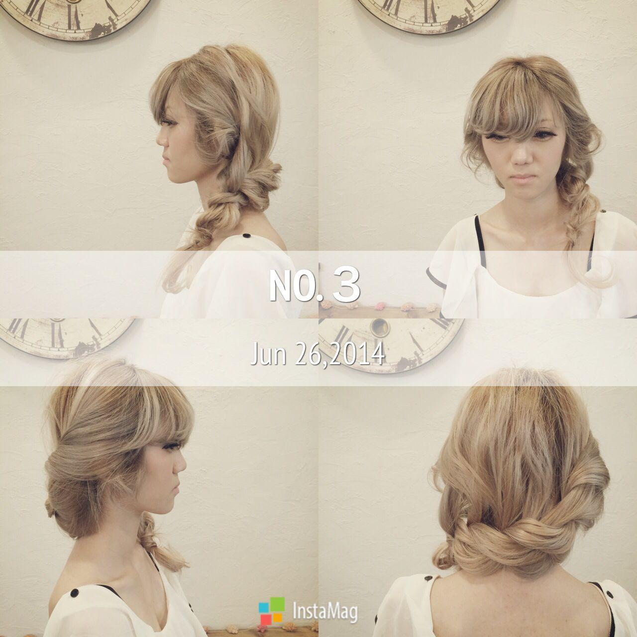 ヘアアレンジ ねじり ゆるふわ ナチュラル ヘアスタイルや髪型の写真・画像 | Manami Hashimoto / Antique nouveau