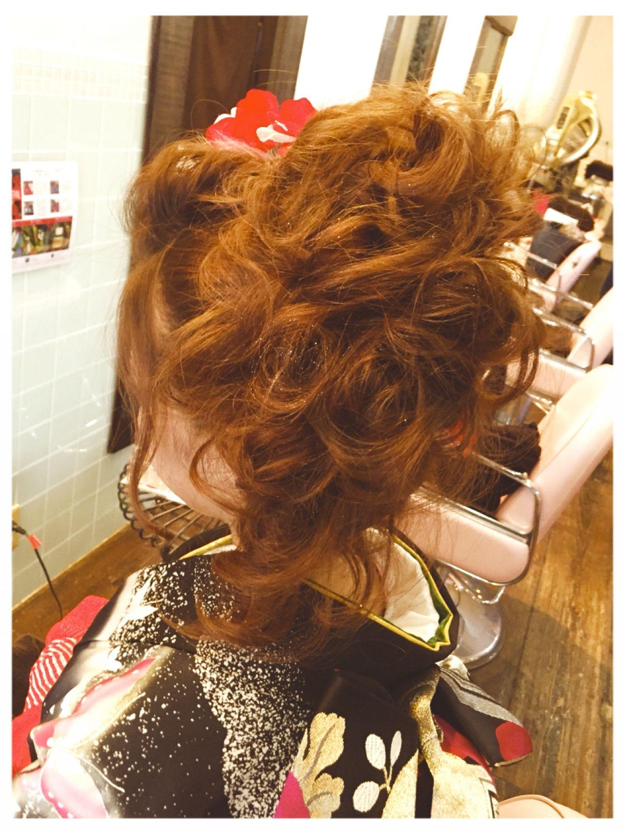 コンサバ 成人式 ヘアアレンジ 和装 ヘアスタイルや髪型の写真・画像