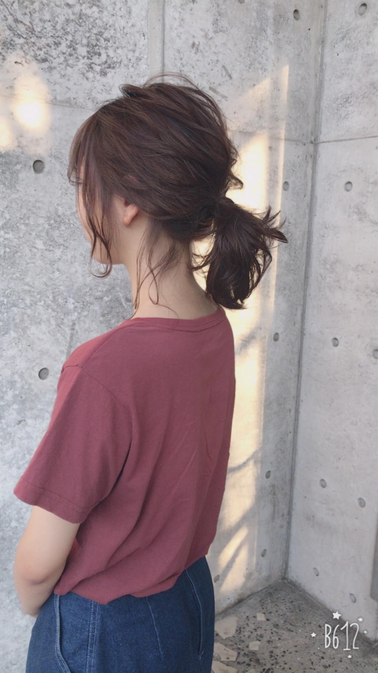 透明感 ヘアアレンジ ナチュラル おフェロ ヘアスタイルや髪型の写真・画像