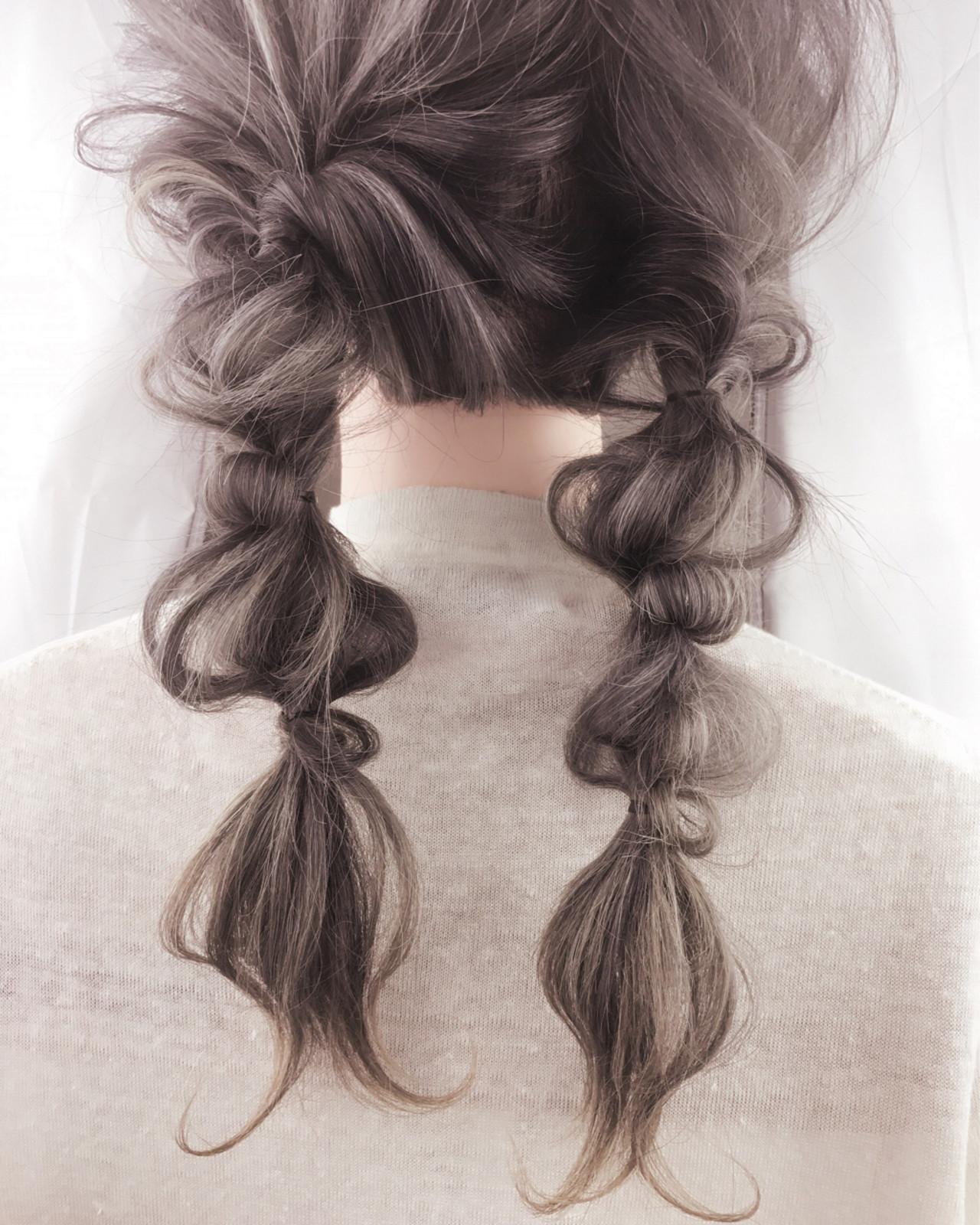 ヘアアレンジ ロング ガーリー ヘアスタイルや髪型の写真・画像 | 小路 慎一郎 / calon hair