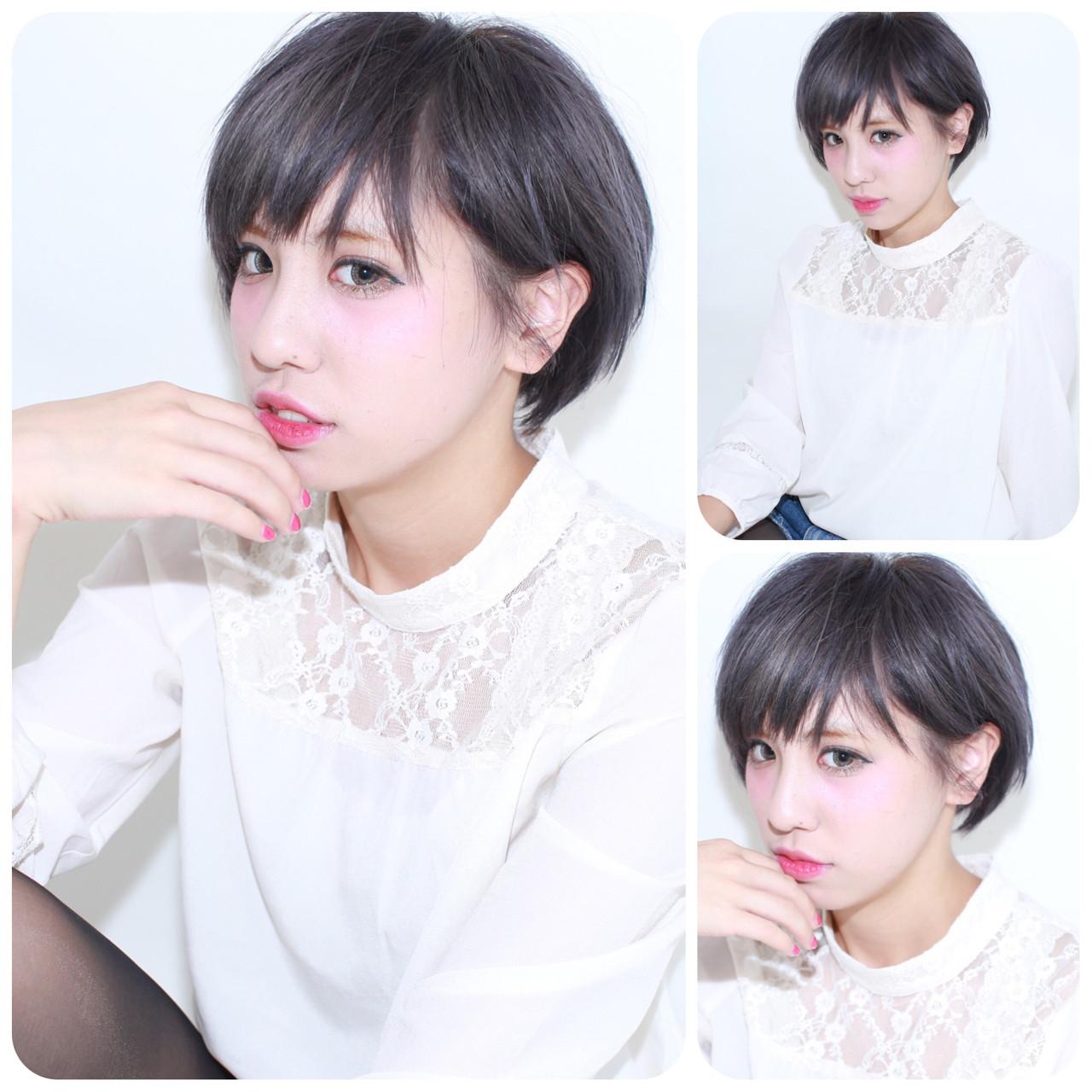 ショート ナチュラル ショートボブ 暗髪 ヘアスタイルや髪型の写真・画像 | イマムラ スナオ / LUKE